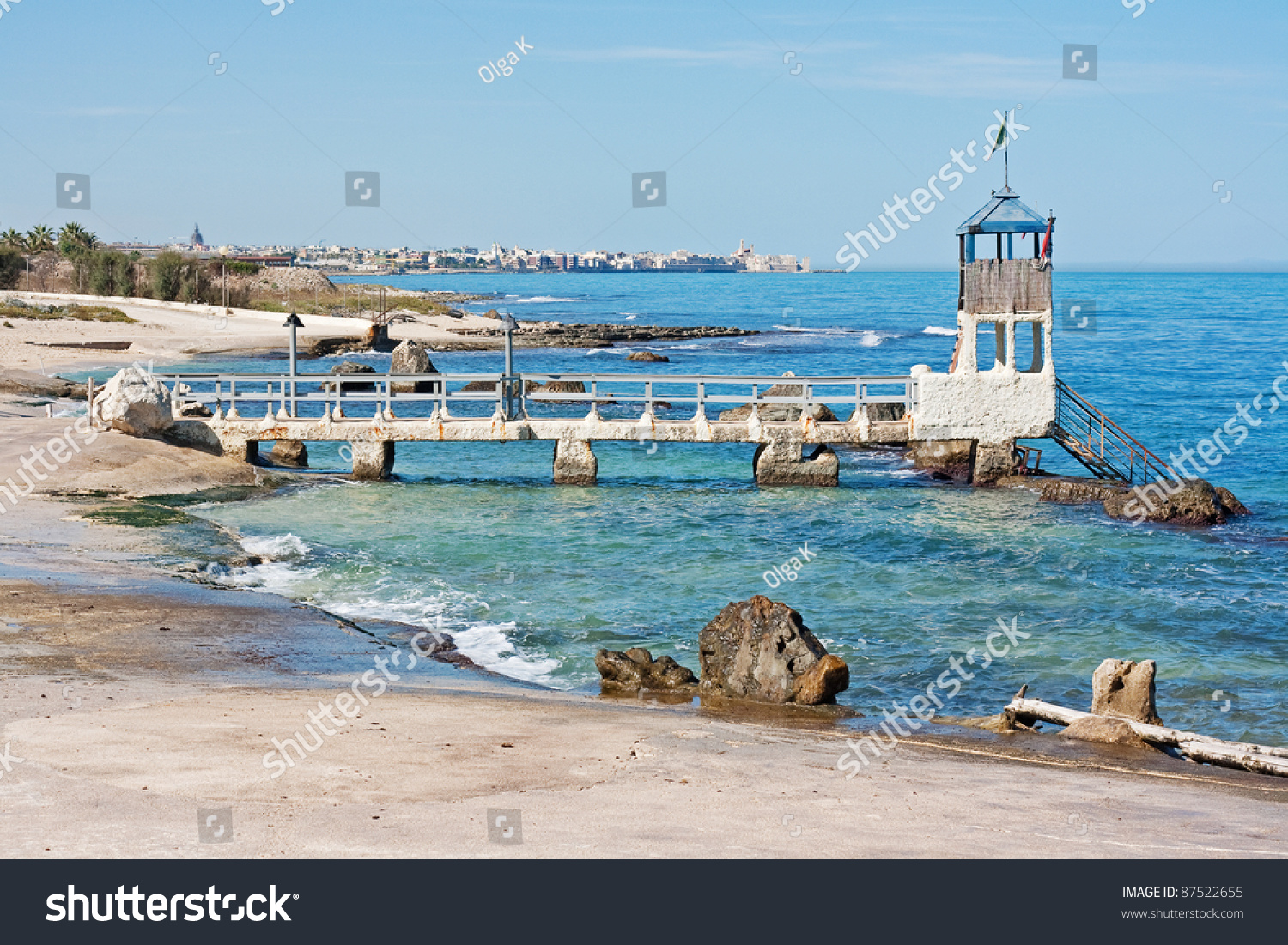 Adriatic Coast Landscape Near Bari Italy Stock Photo 87522655 - Shutterstock