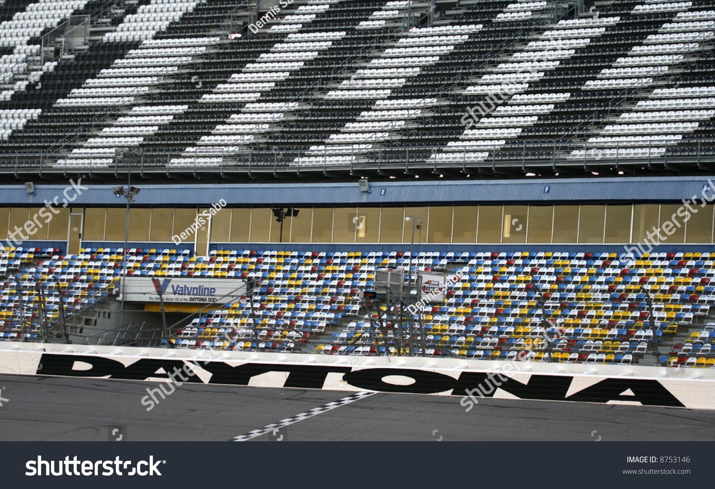 Finish Line Daytona 500 Speedway Daytona Stock Photo 8753146 ...
