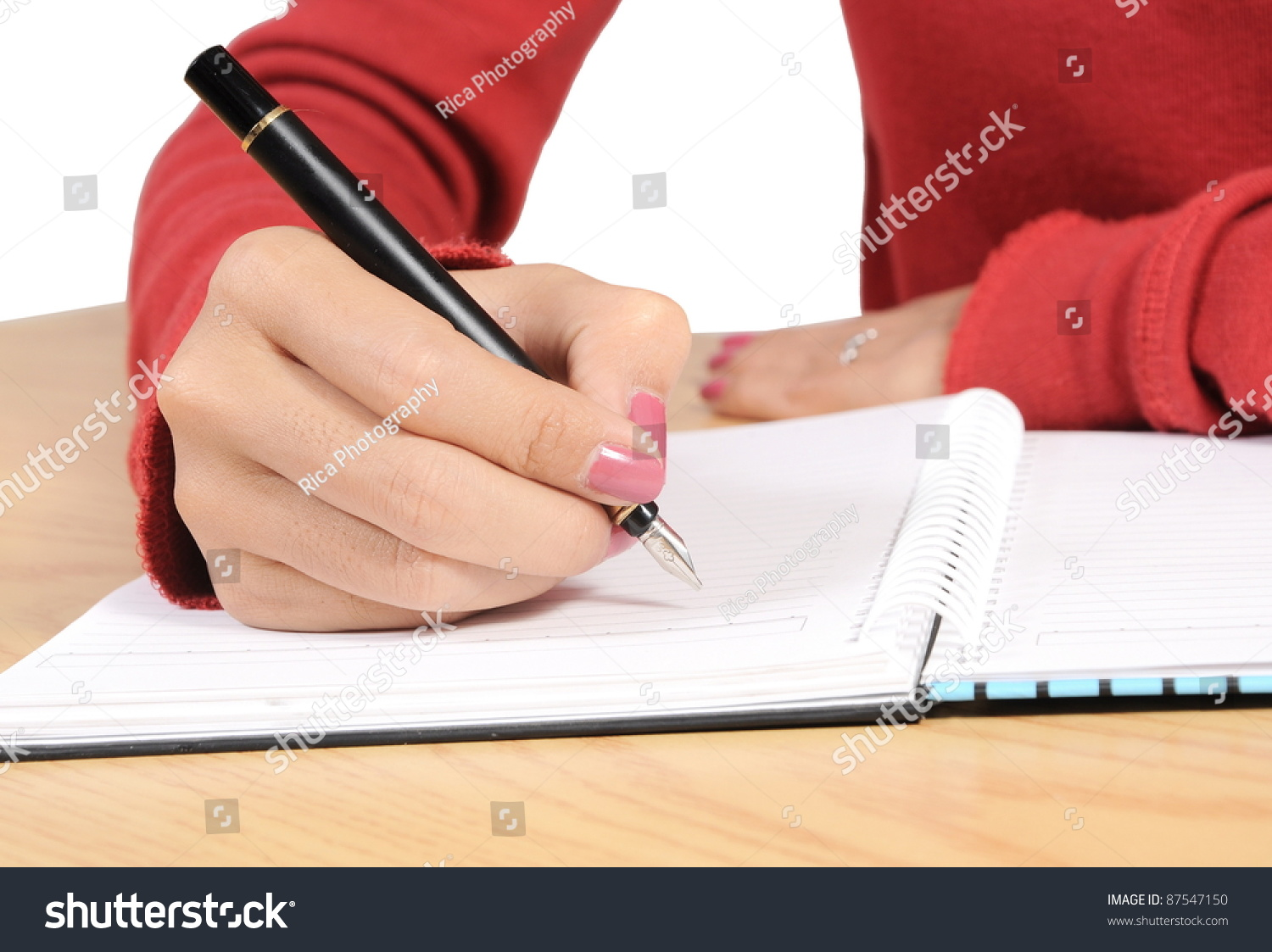 hand writing book