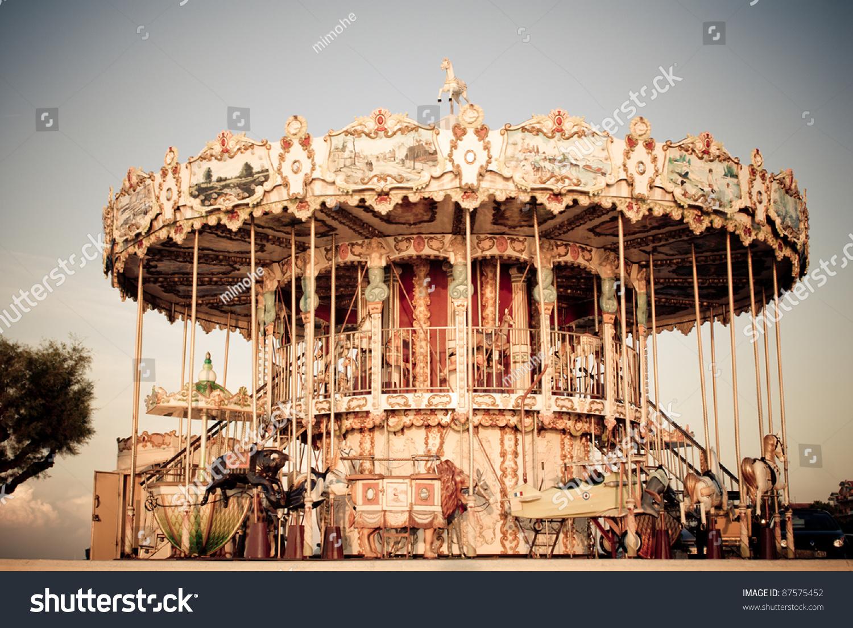 Antique Carousel Stock Photo 87575452 : Shutterstock