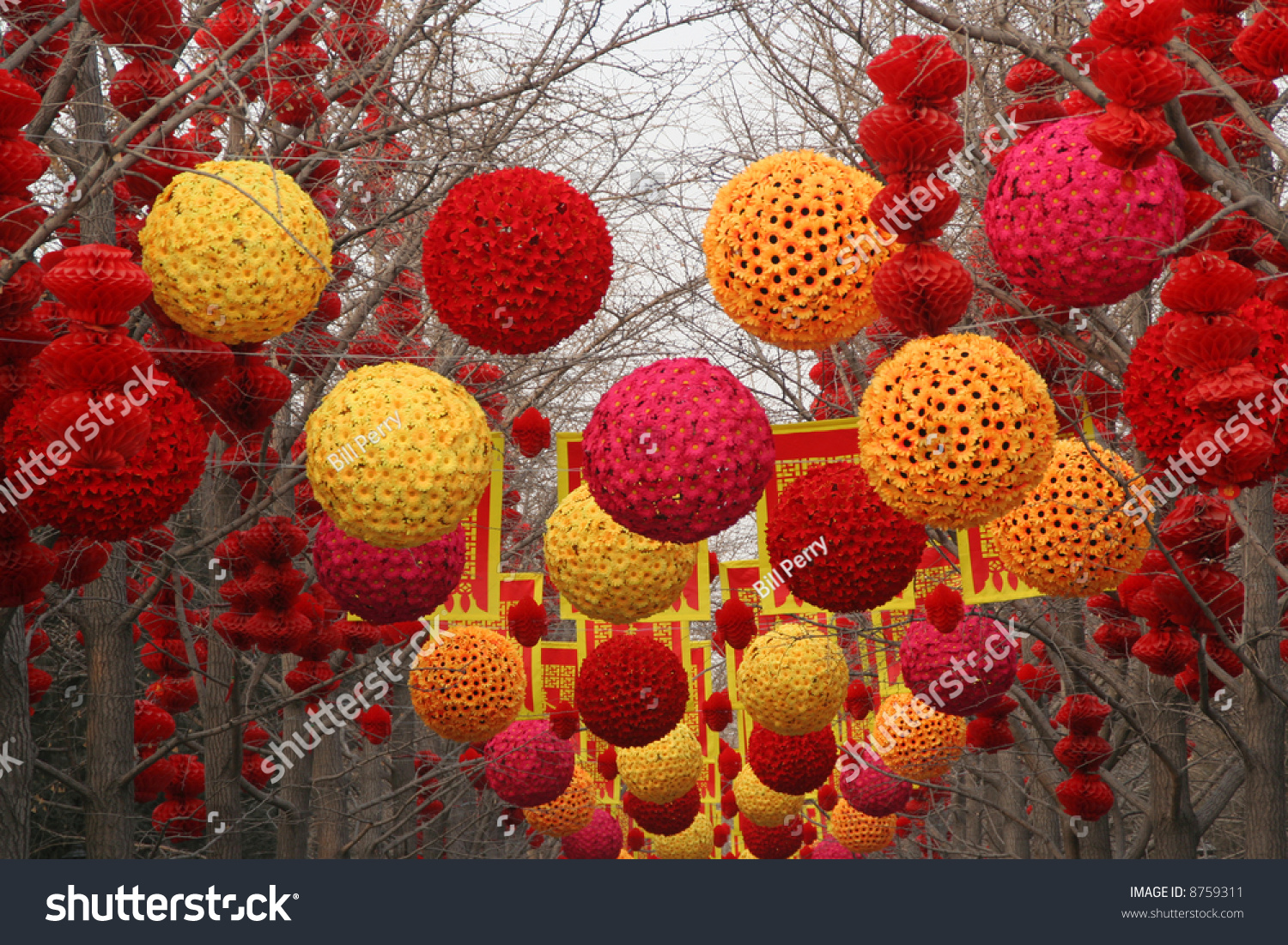 chinese new year decorations ditan park beijing china during lunar new year - Chinese New Year Decorations