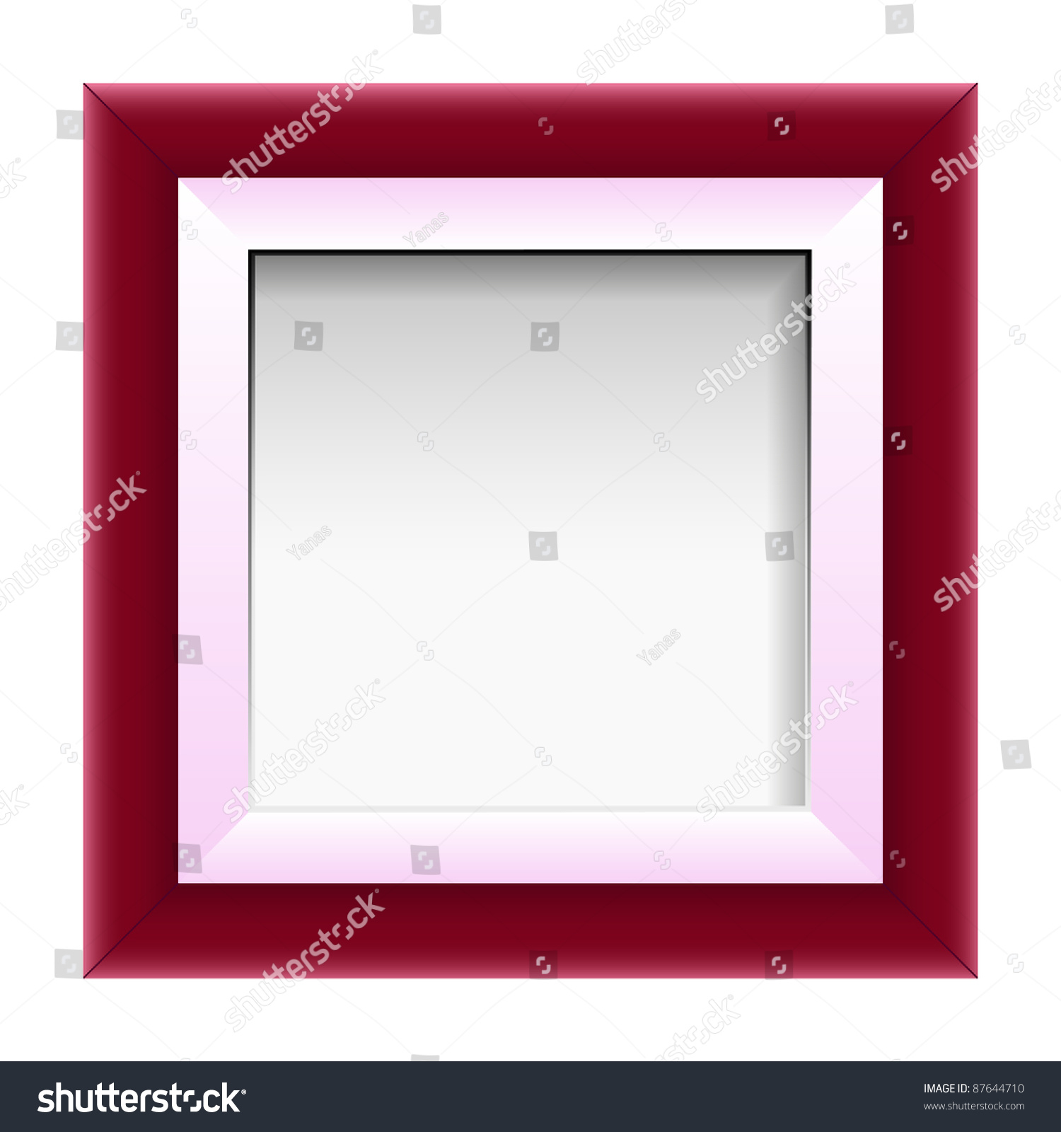 Red Picture Frame, Vector - 87644710 : Shutterstock