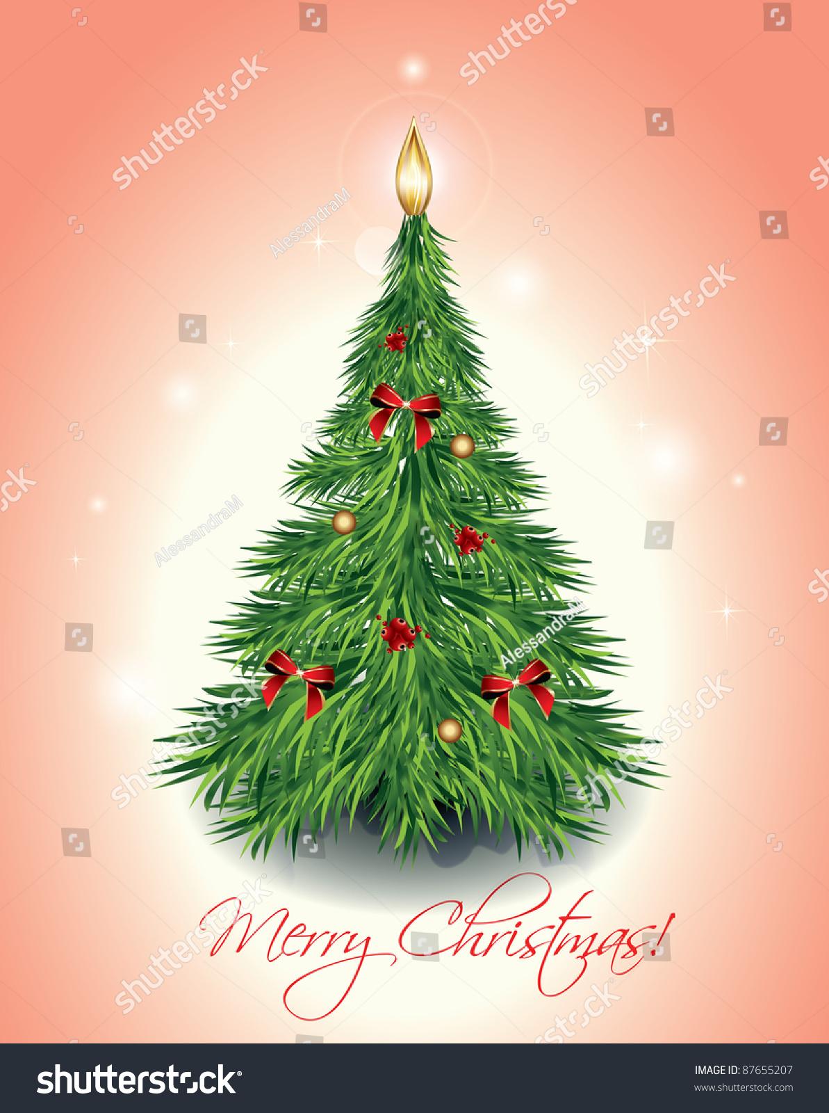 Christmas tree vector illustration  shutterstock