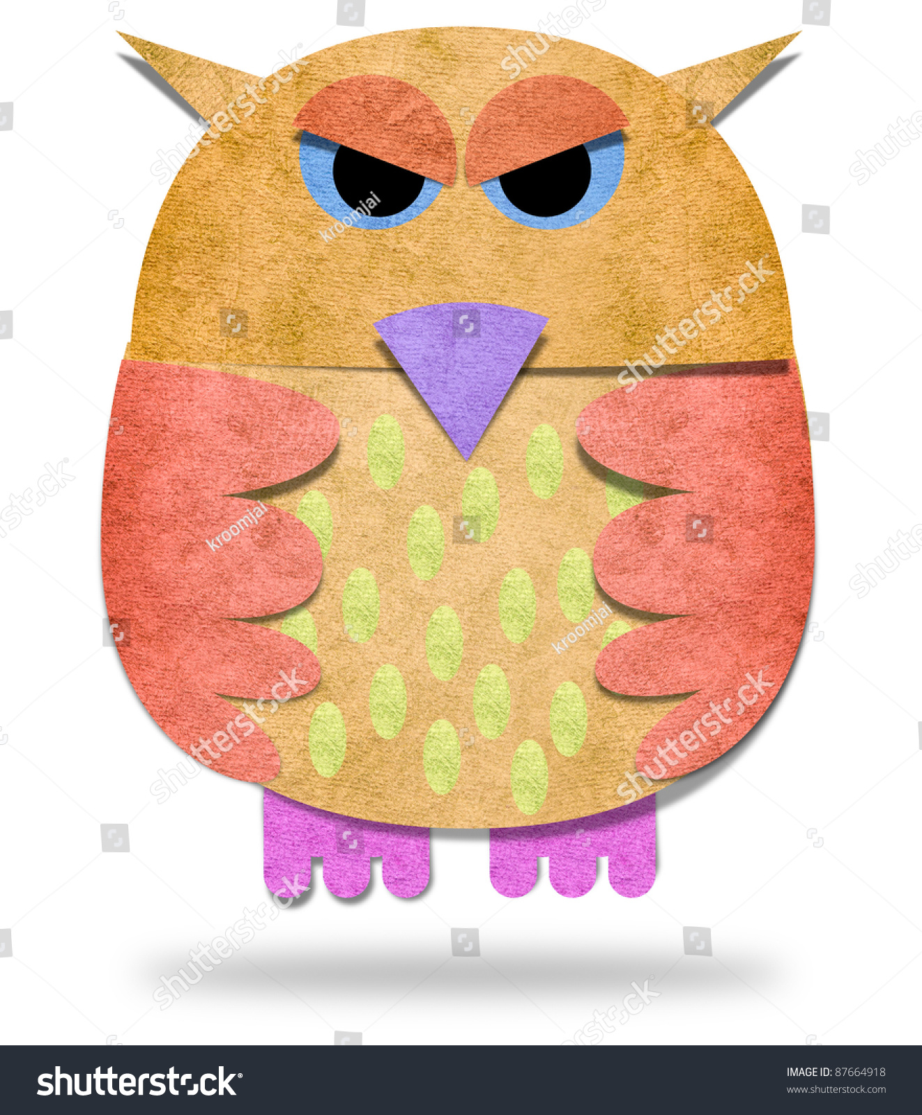 Owls paper craft on white background stock illustration 87664918 owls paper craft on white background jeuxipadfo Choice Image