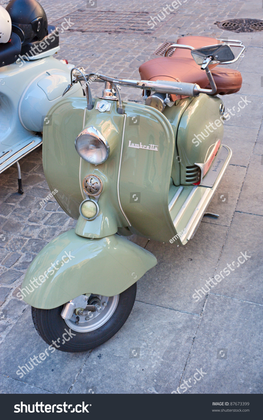 imola bo italy october 8 vintage scooter lambretta on. Black Bedroom Furniture Sets. Home Design Ideas