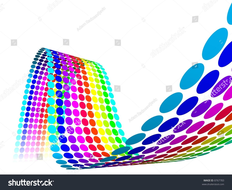 3d Color Dots Waves Stock Illustration 8767783 - Shutterstock
