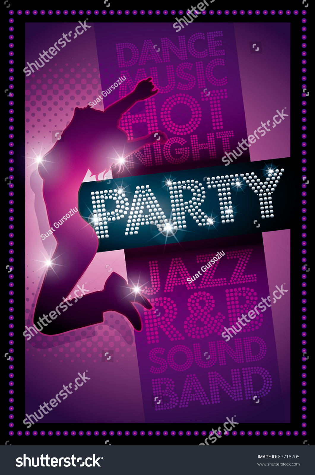 purple party poster template well organized stock vector 87718705 purple party poster template well organized layers in vector file cmyk colors print