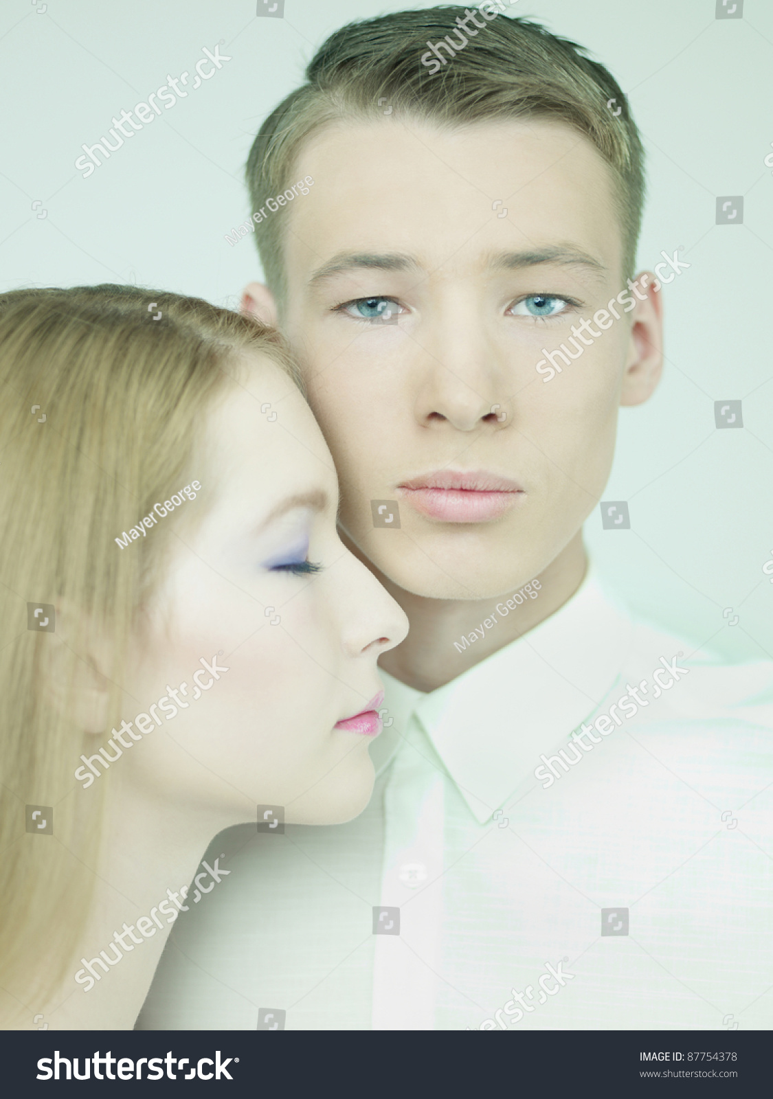 Stock Photo Portrait Of Young Elegant Couples In The Tender Passion