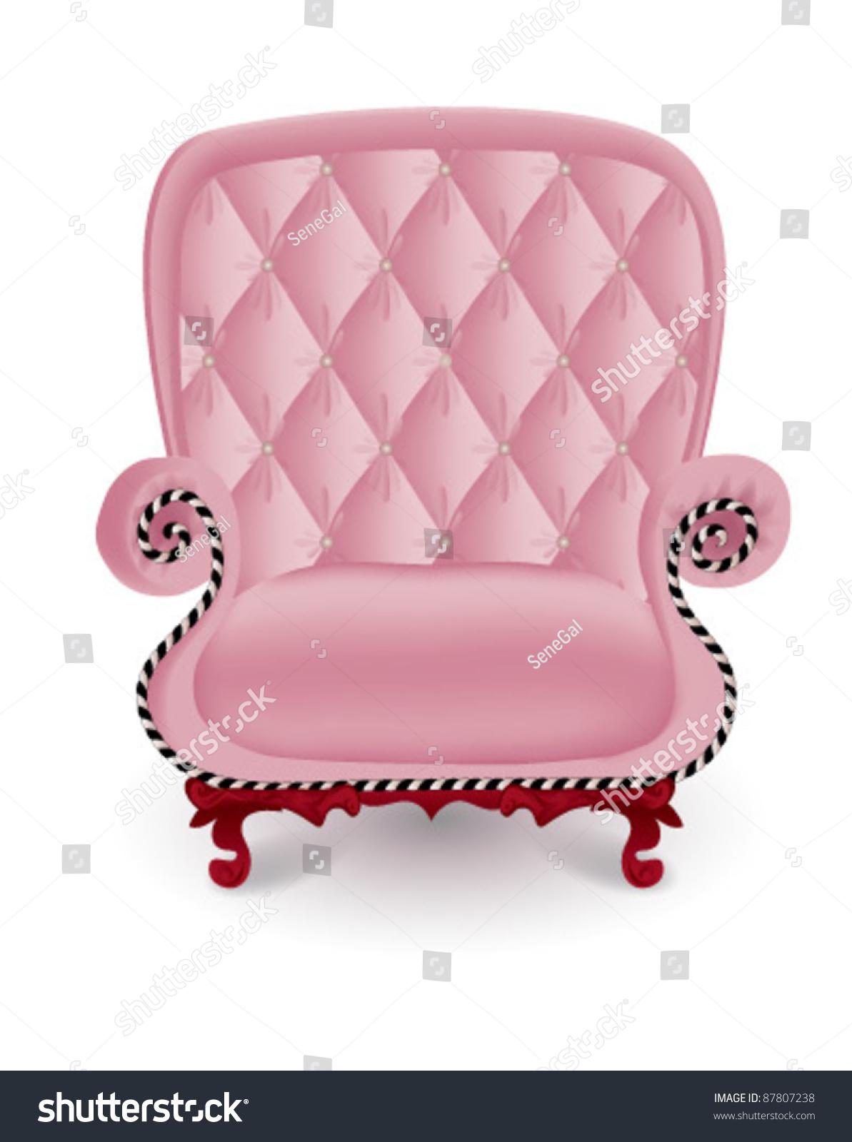 Antique Pink Armchair Stock Vector 87807238 Shutterstock