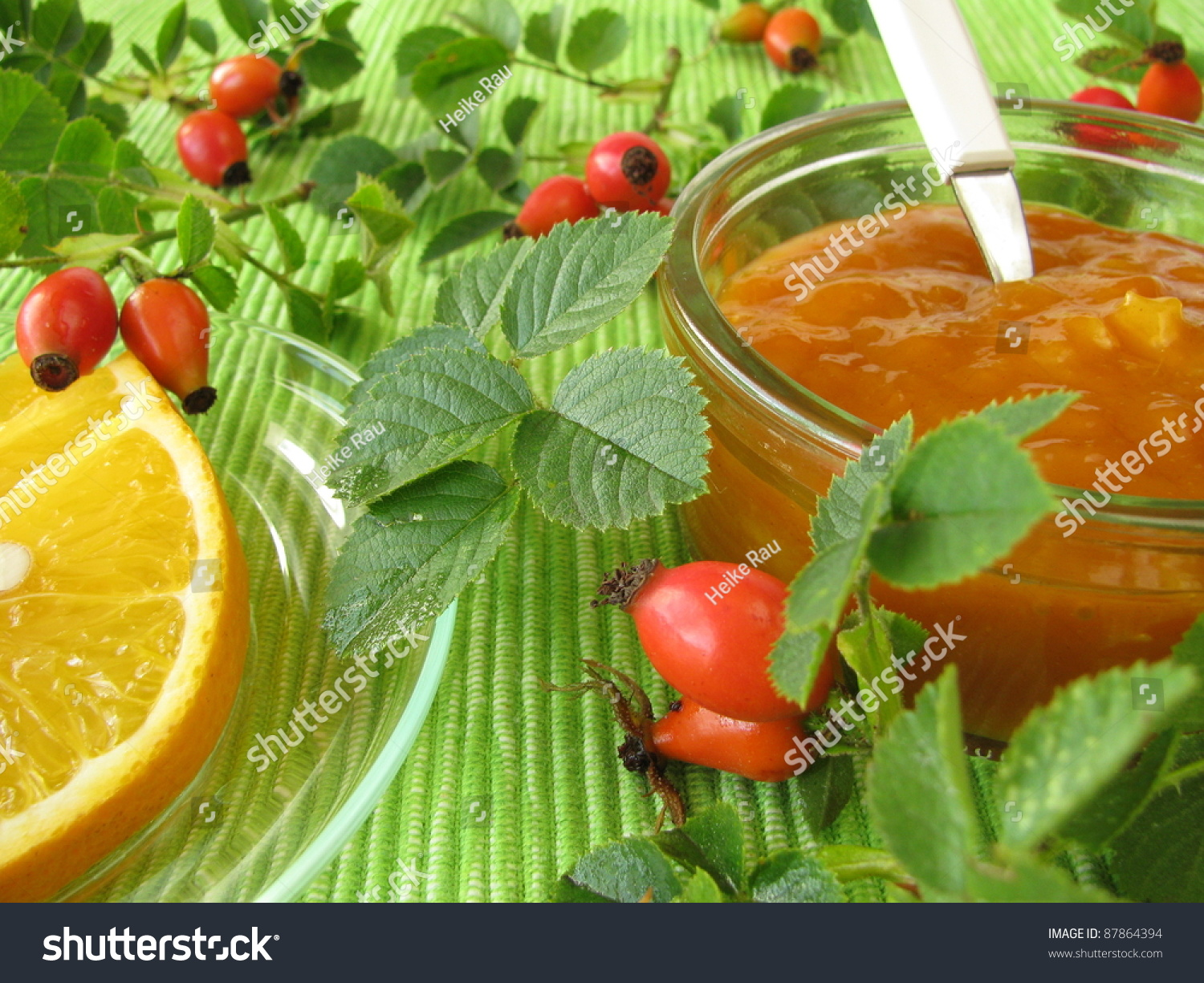 Jam with rose hips and oranges stock photo 87864394 shutterstock - What to do with rosehips jelly and vinegar ...