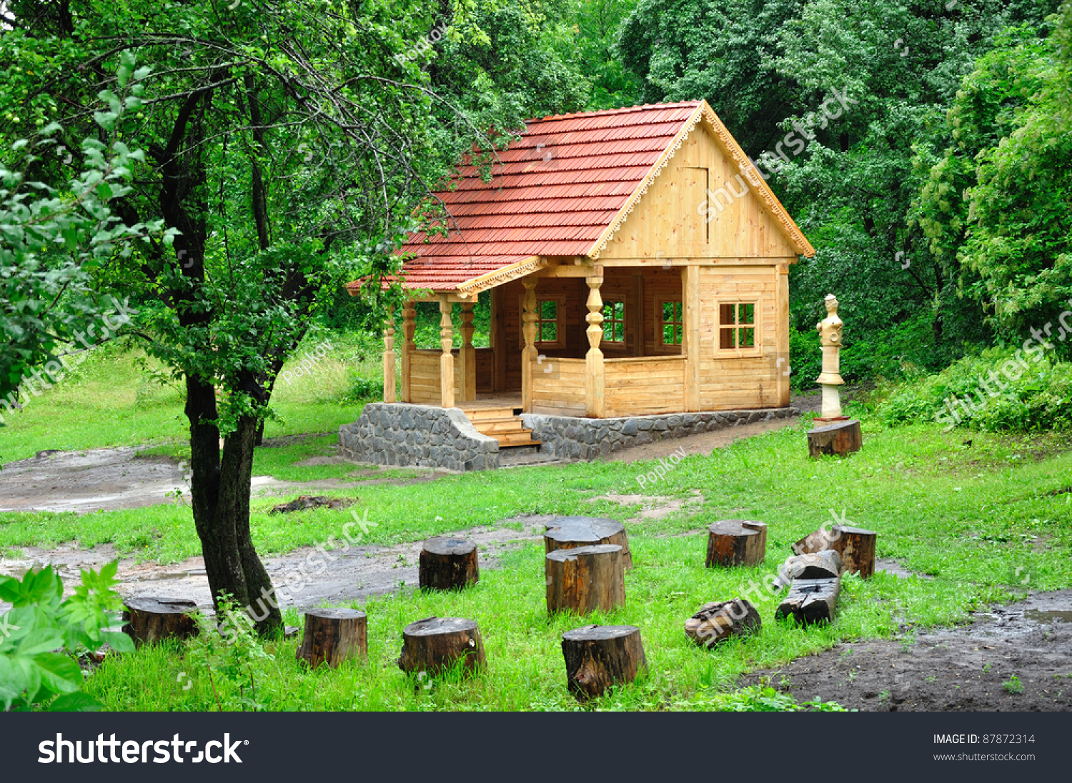 Surprising Small House Garden Stock Photo 87872314 Shutterstock Largest Home Design Picture Inspirations Pitcheantrous