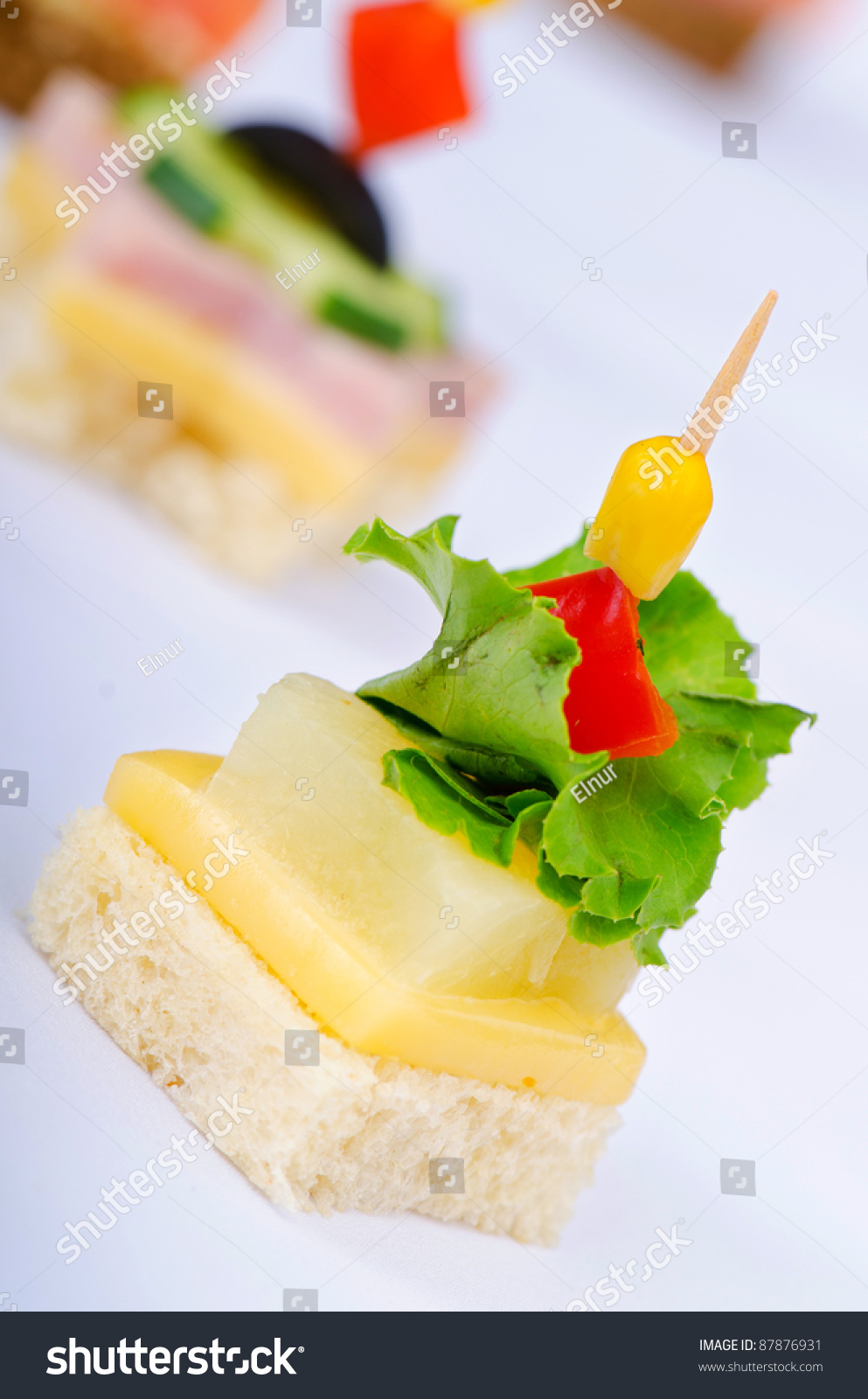 Selection of various canape stock photo 87876931 for Canape selection
