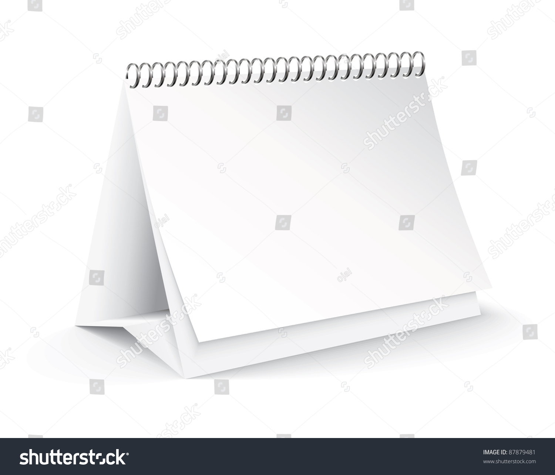 Blank Calendar Vector : Vector blank desk calendar stock