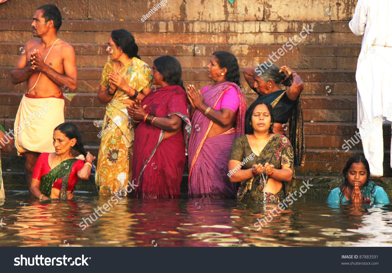Varanasi India April 2 Unidentified Hindu Stock Photo (Edit