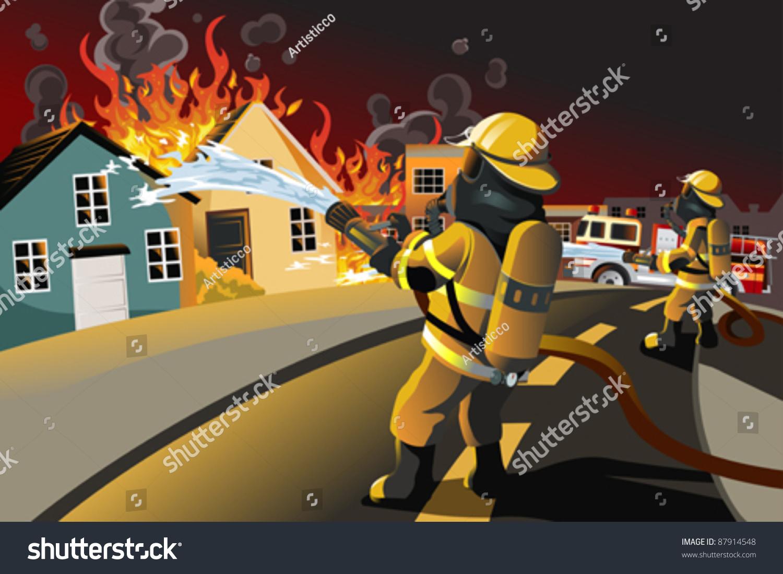Картинки раскраска пожар горит дом 7