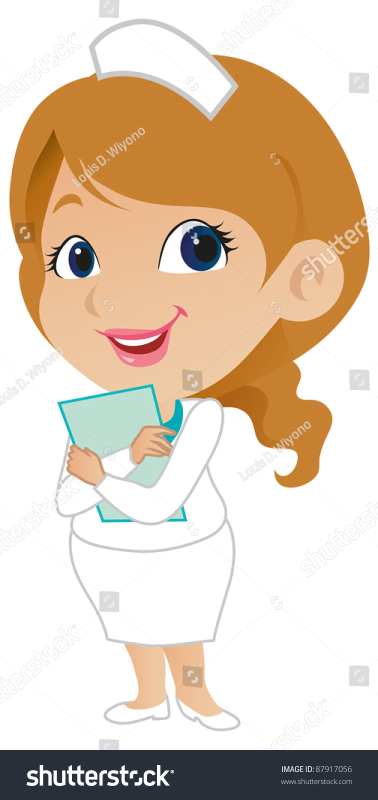 cute female nurse stock vector illustration 87917056