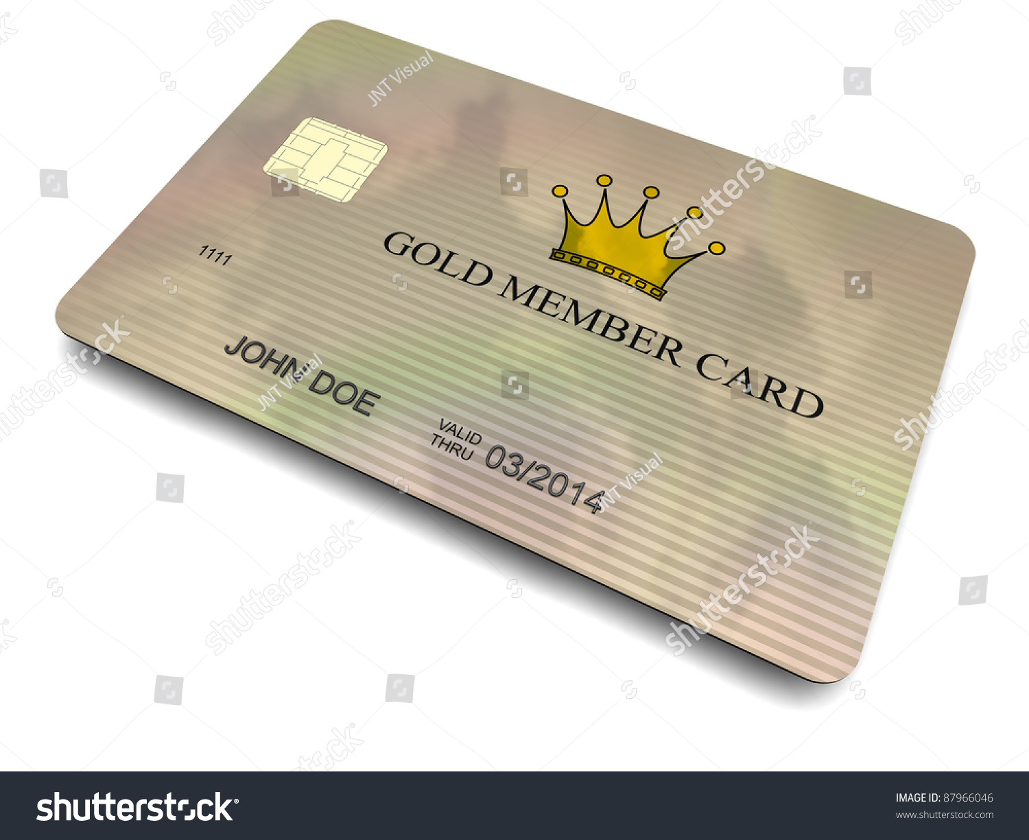 3dmodeled Plastic Member Card Chip Cropped Stock Illustration ...