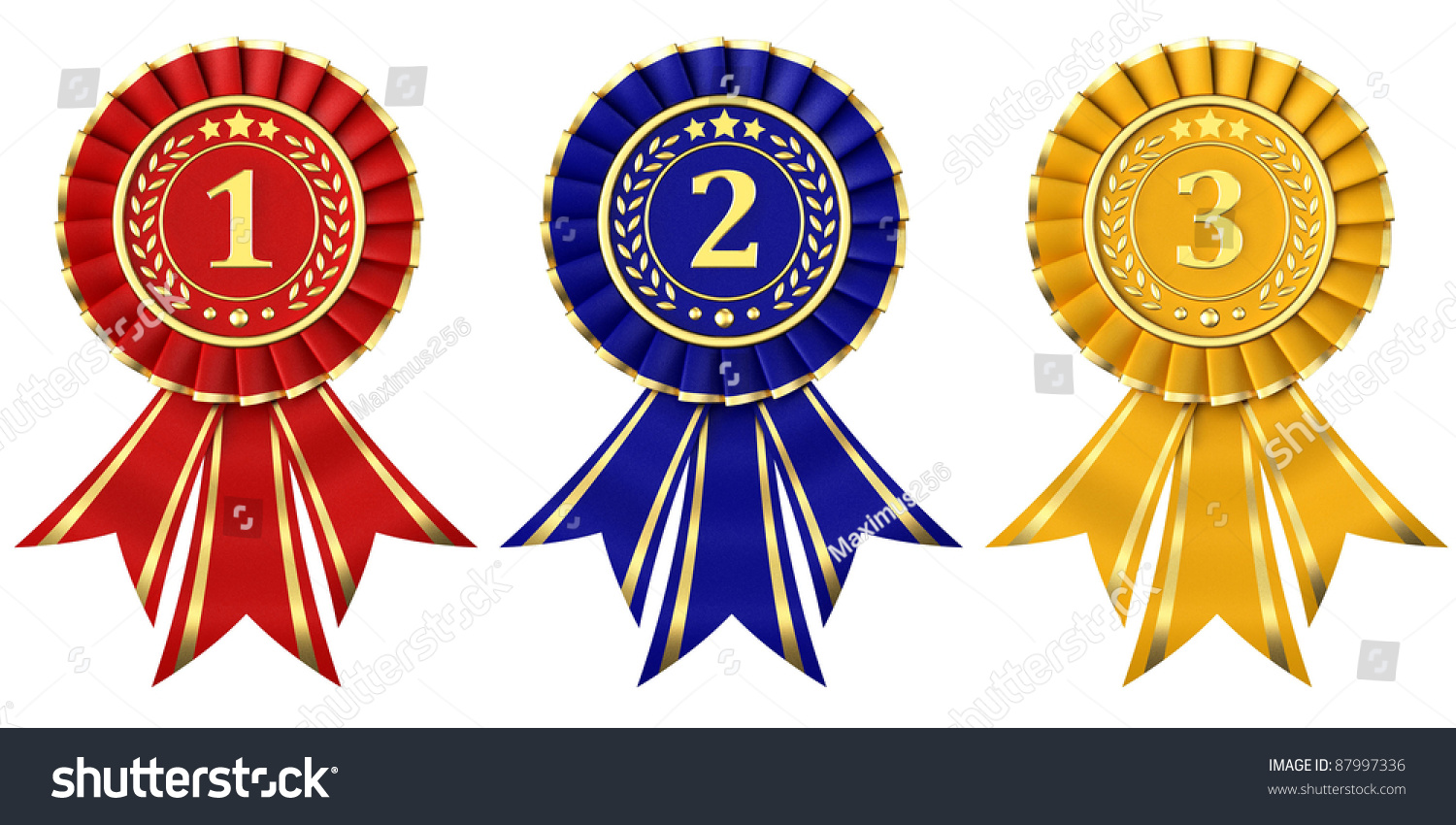 2nd place stock vector illustration royalty free 2nd place clipart - Place First Place Second Place Third Place Award Of