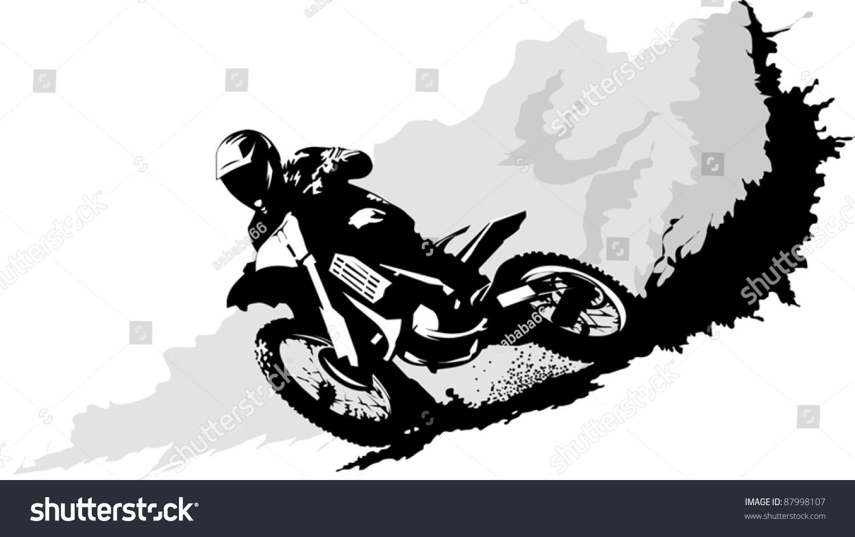 Dirt Bike Whip Silhouette