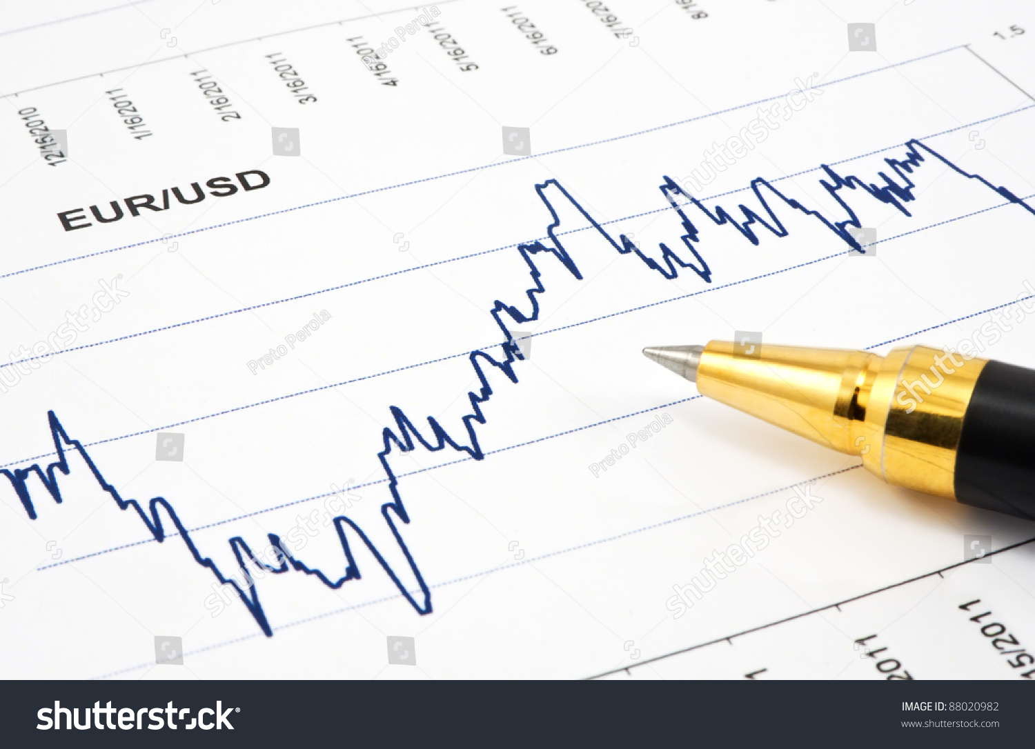 Business Background Financial Chart Ballpoint Pen Stock Photo Edit Each Includes 1 Ball Point And Fountain As The Diagram With