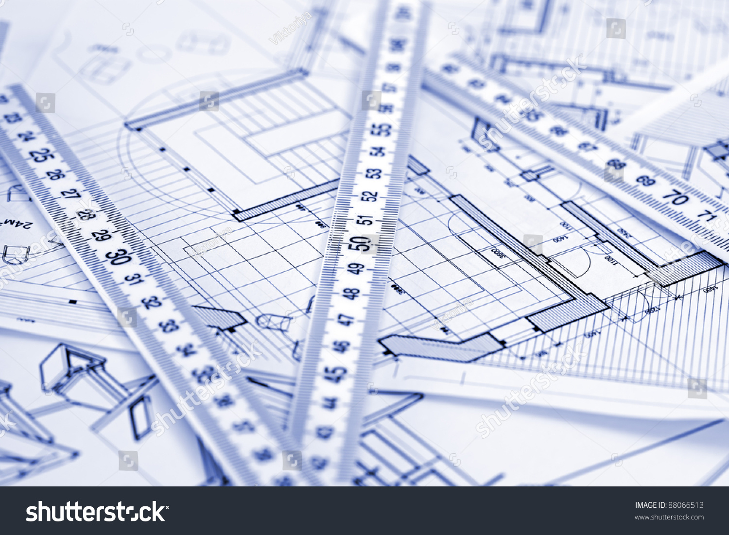 Metric folding ruler architectural drawings modern imagen for Metric homes