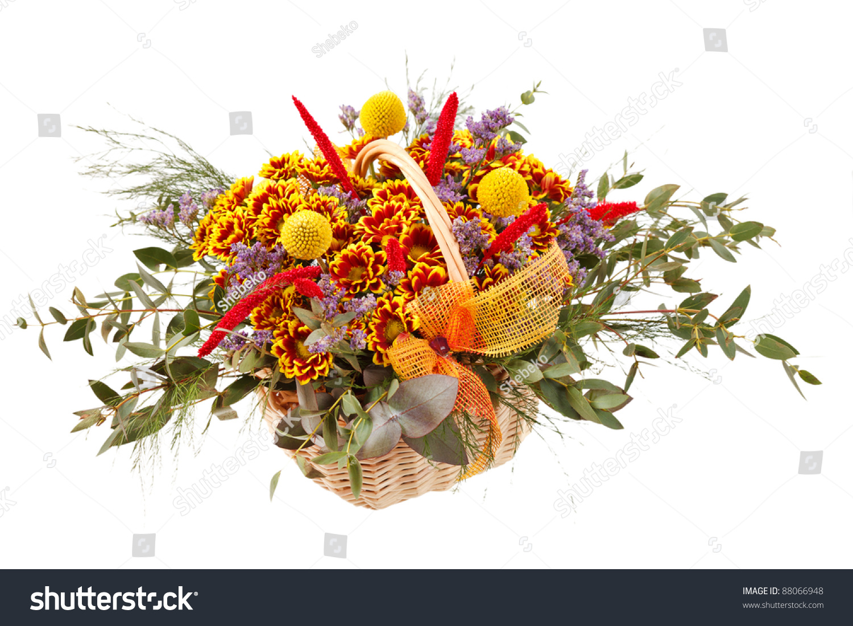 Beautiful flowers in a basket ez canvas id 88066948 izmirmasajfo