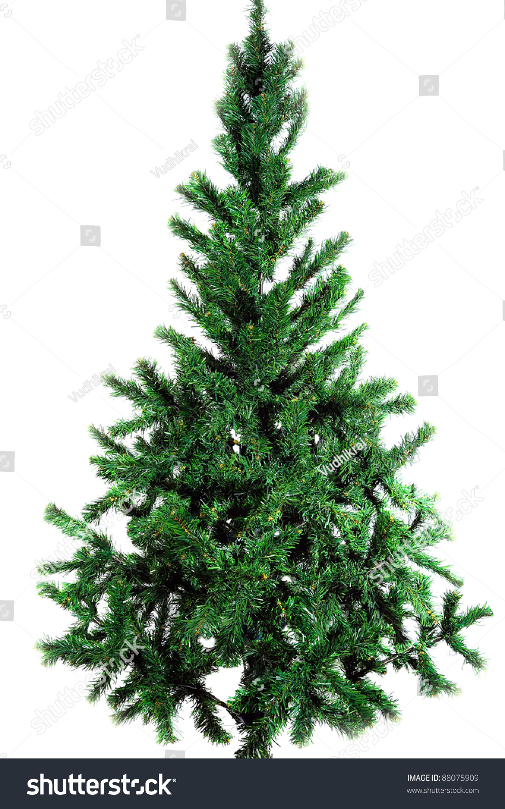 Plain Christmas Tree Stock Photo 88075909 - Shutterstock