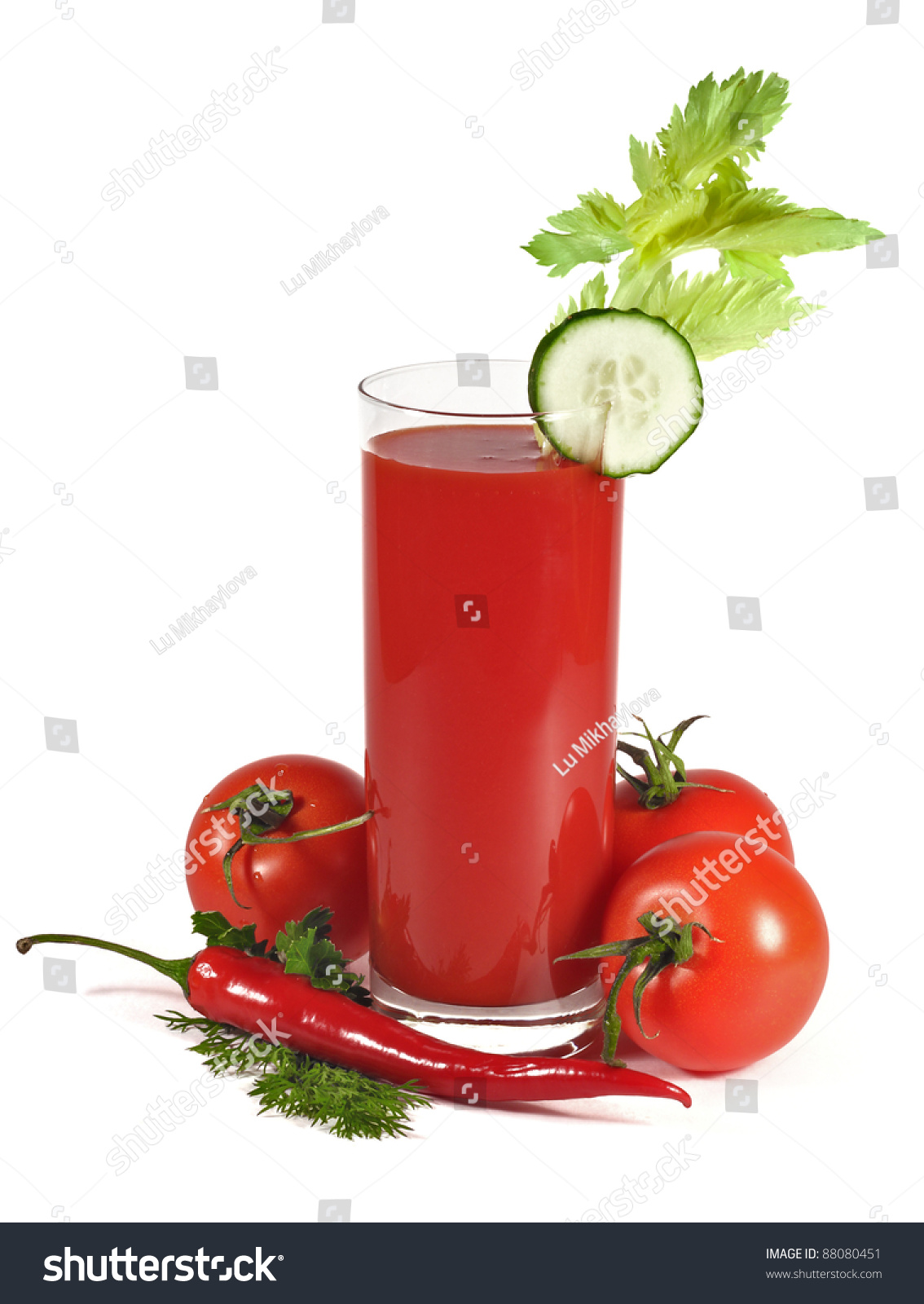 tomato-juice-isolated-on-white-background-with-tomatoes-chilli-pepper ...