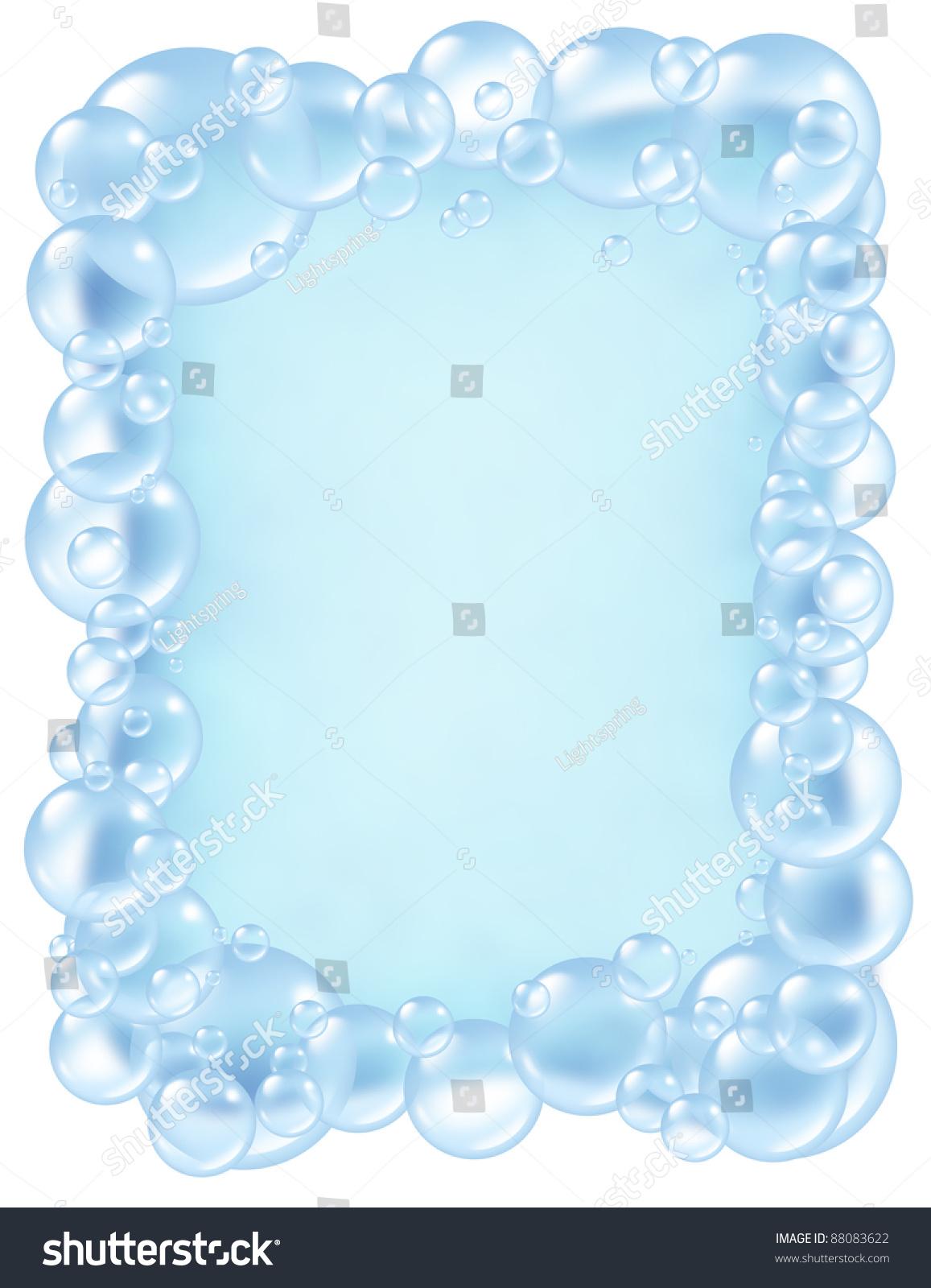 Bubbles Frame Transparent Bath Soap Suds Stock ...