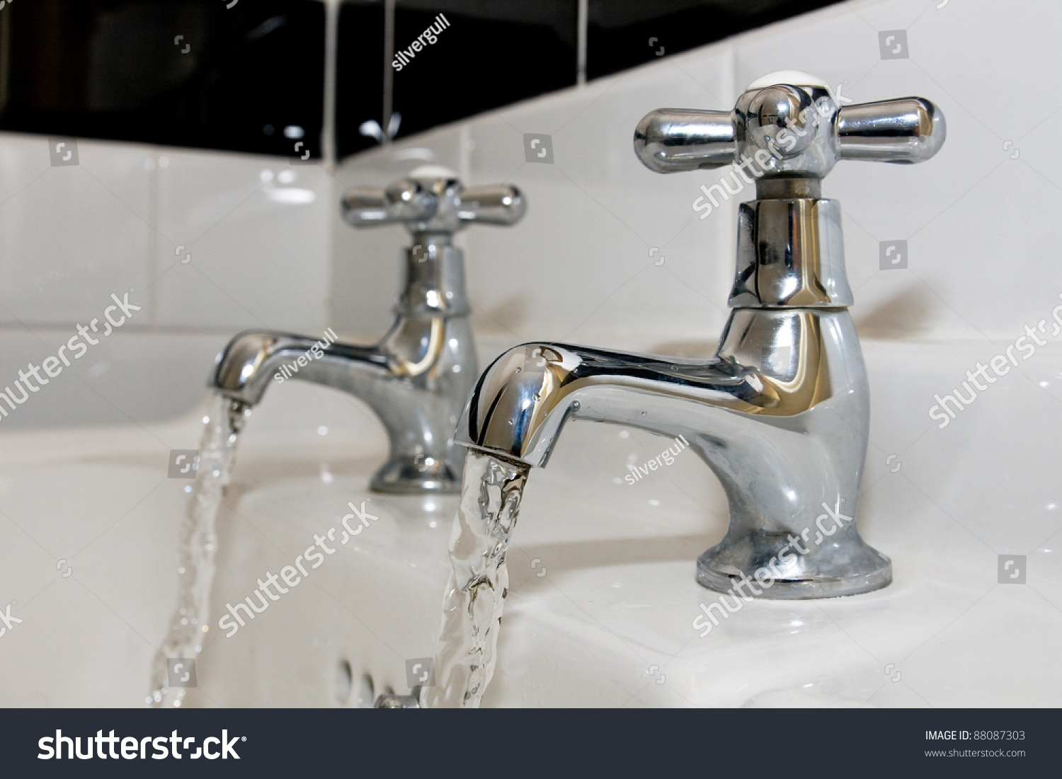 Faucets Running Water Stock Photo (Royalty Free) 88087303 - Shutterstock