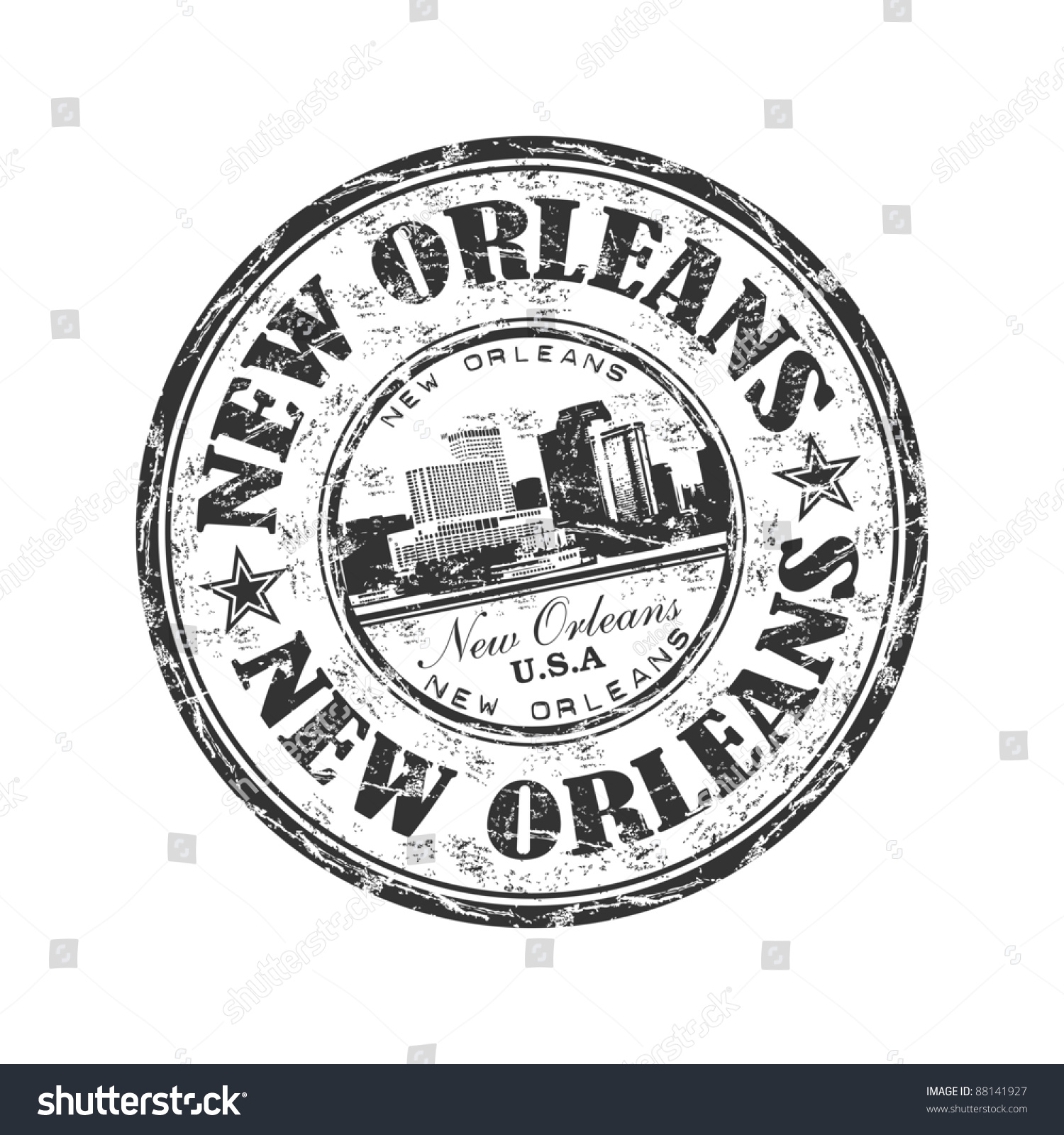 Black grunge rubber stamp name city stock vector 88141927 shutterstock black grunge rubber stamp with the name of the city of new orleans written inside the buycottarizona Images