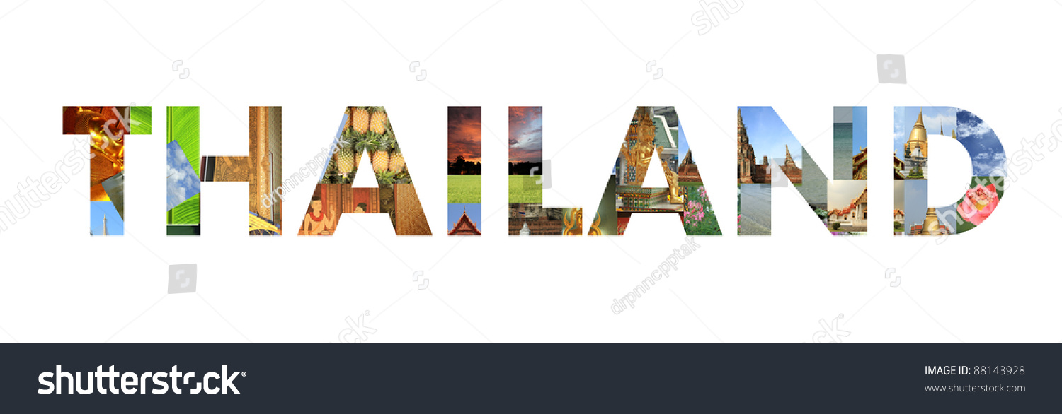 Thailand Word From Thai Culture Photograph Stock Photo 88143928 ...
