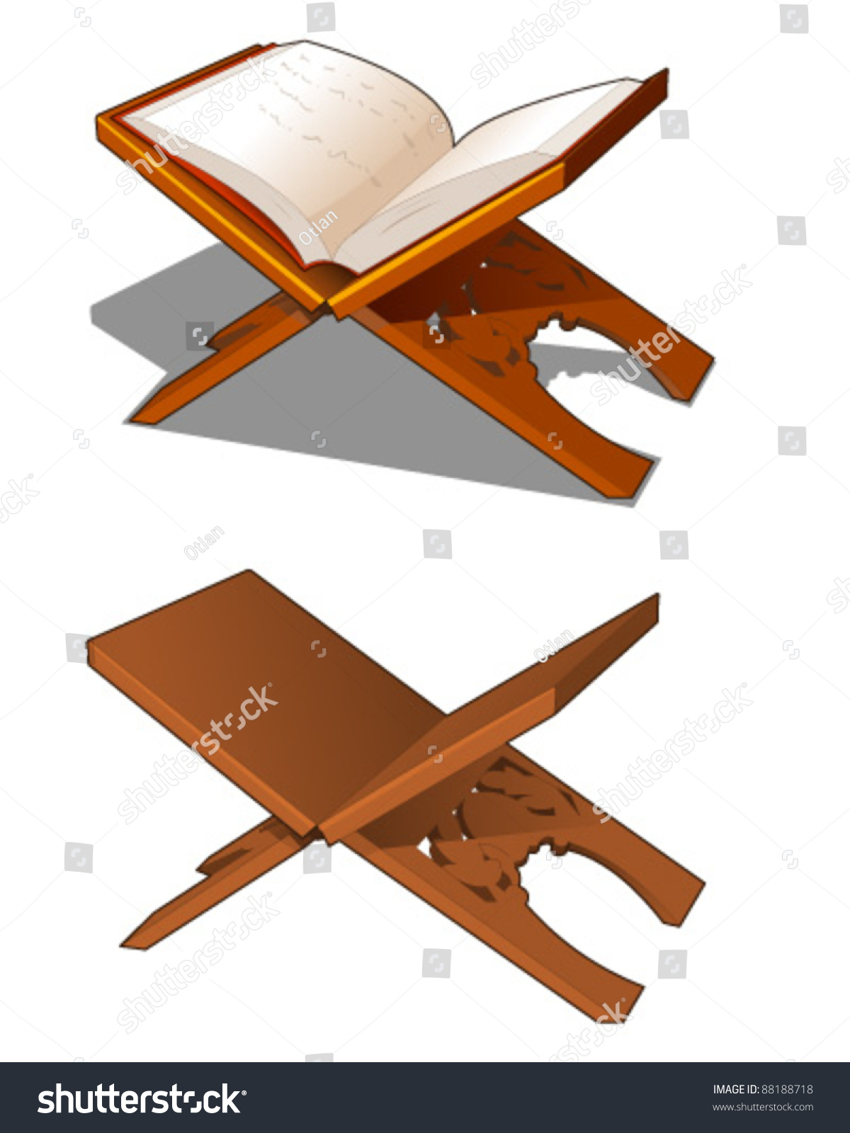 traditional book stand stock vector shutterstock
