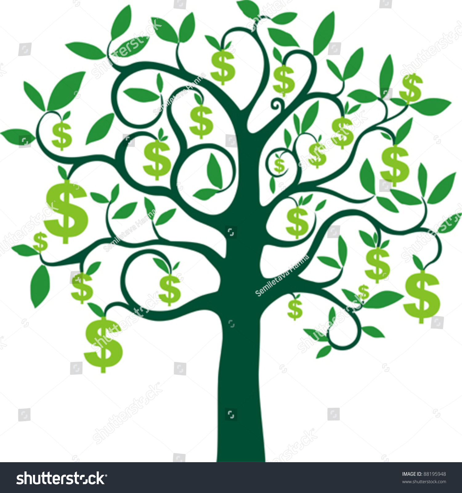 money tree isolated on white background stock vector Olive Branch Drawing Olive Branch Sketch