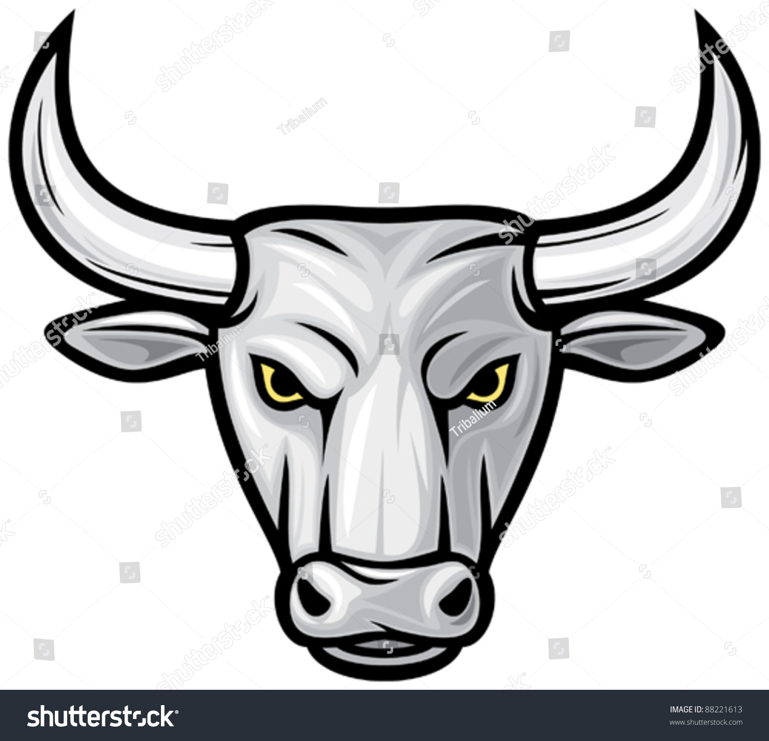 This is an image of Fabulous Bull Head Drawing