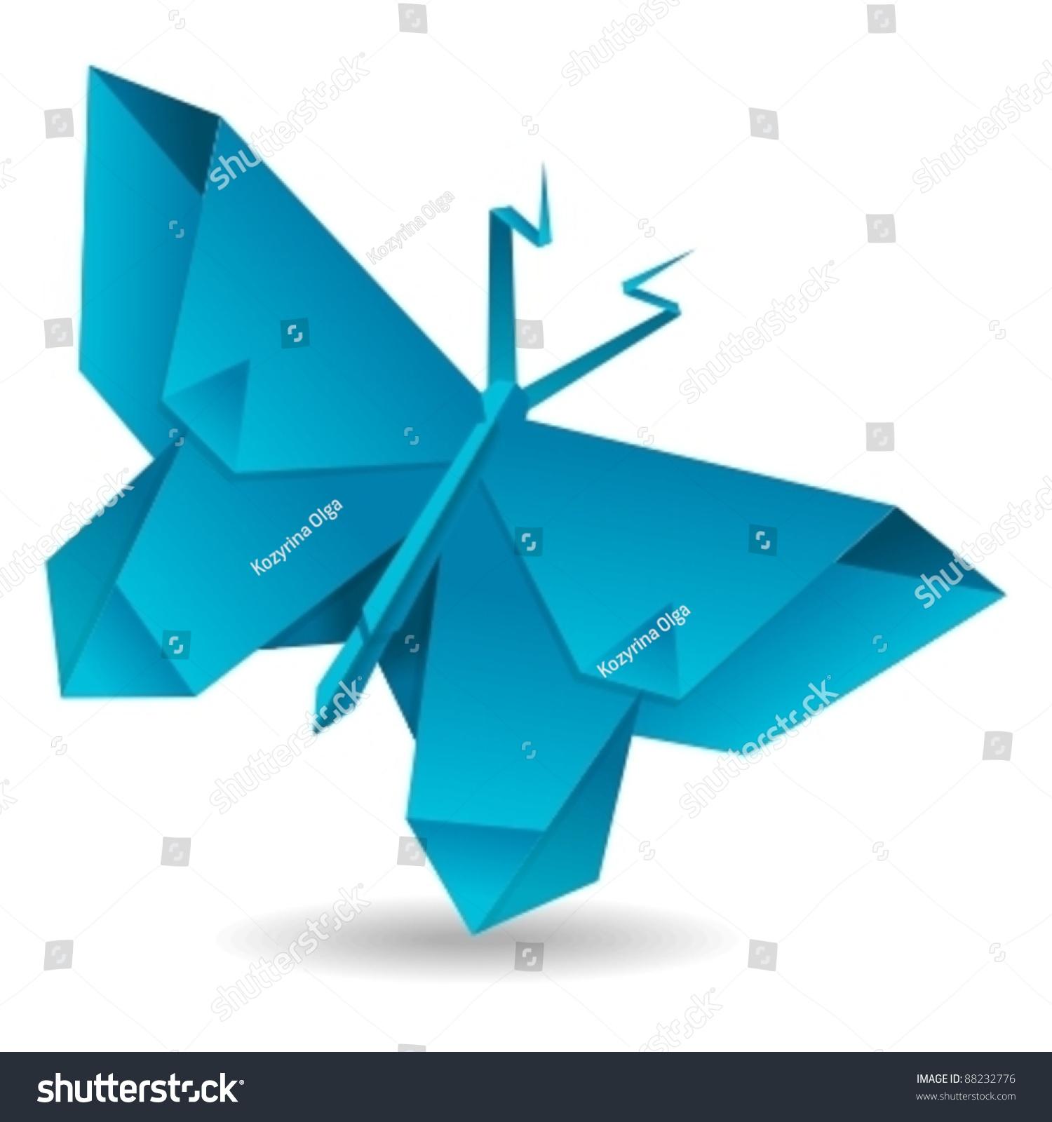 Vector Origami Butterfly Stock Vector 88232776 - Shutterstock - photo#22