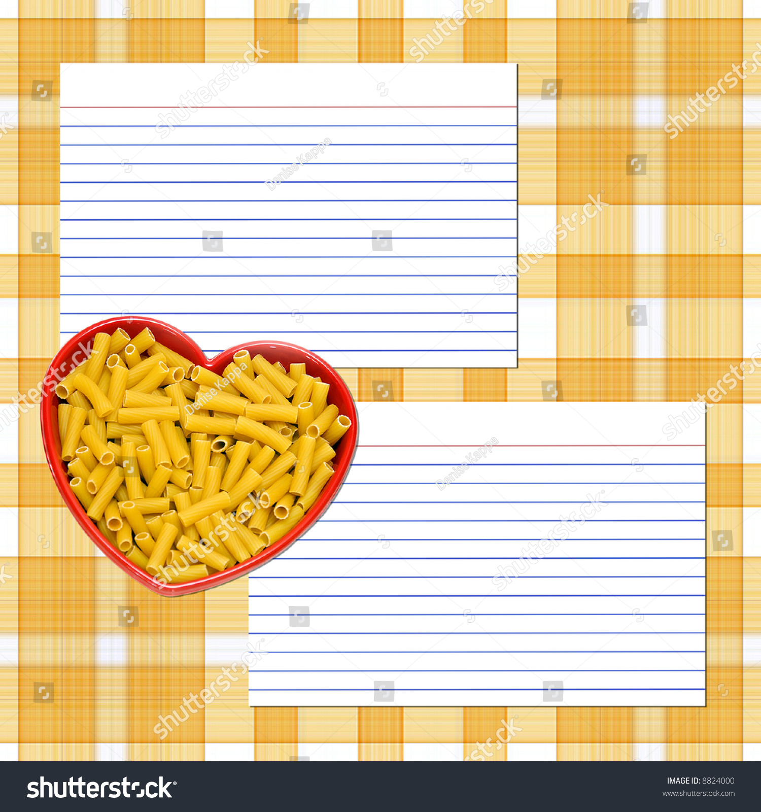 Recipe layout pasta recipe cards heart stock photo royalty free a recipe layout for pasta recipe cards heart dish of pasta plain tile forumfinder Choice Image