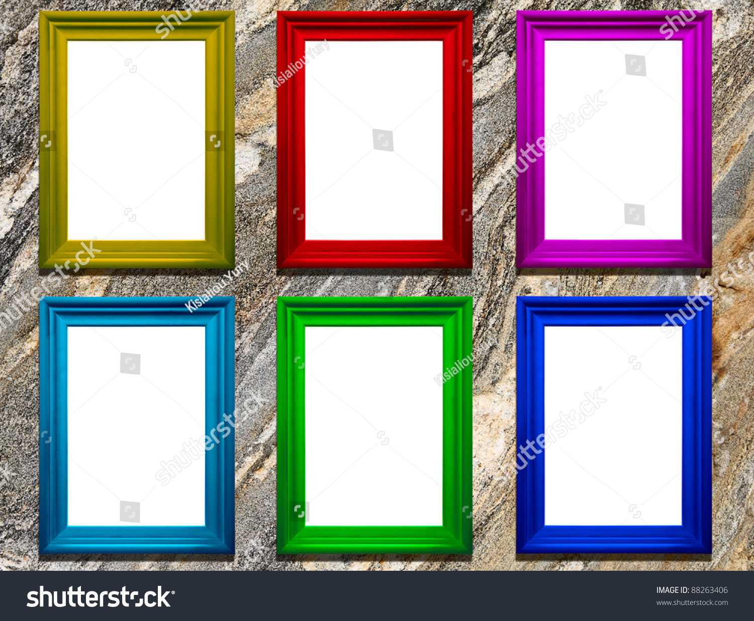 Colored Frames Copyspace On Stone Background Stock Photo (Download ...