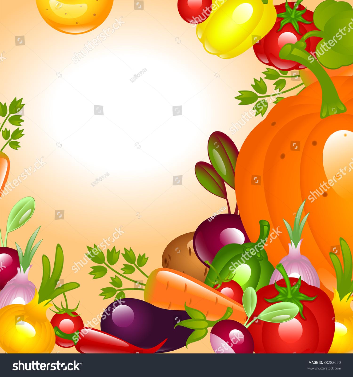Banner Thanksgiving Vegetables Background Stock Vector 88282090 ...