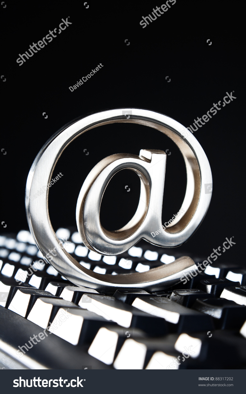 Sign Symbol Paperweight Placed On Computer Stock Photo Edit Now