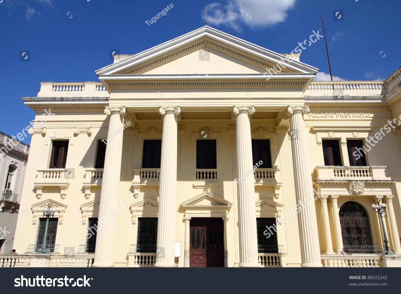 Neoclassical Architecture Santa Clara Cuba City Stock Photo ...