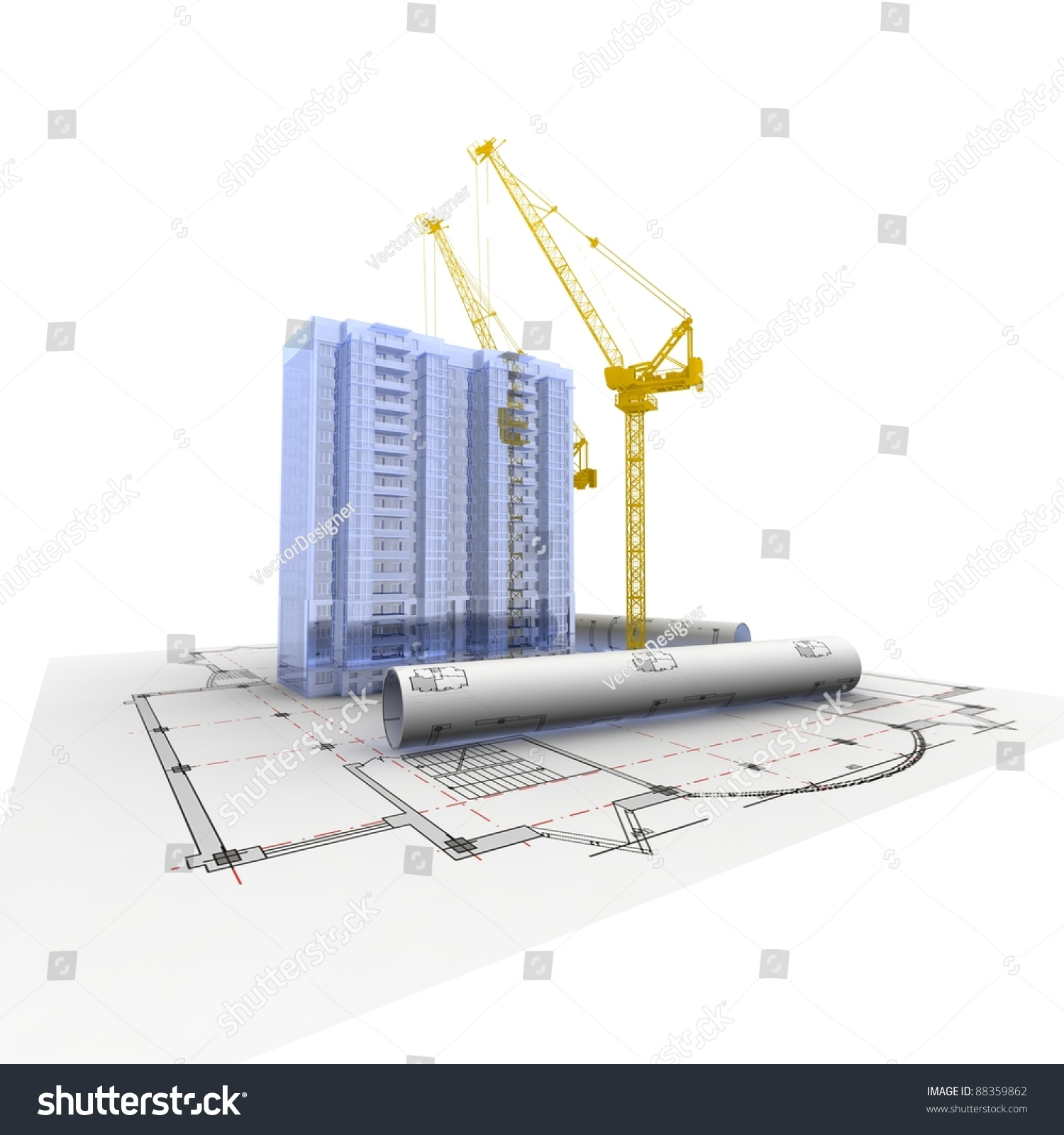 3d plan drawing stock photo 88359862 shutterstock for 3d plan drawing