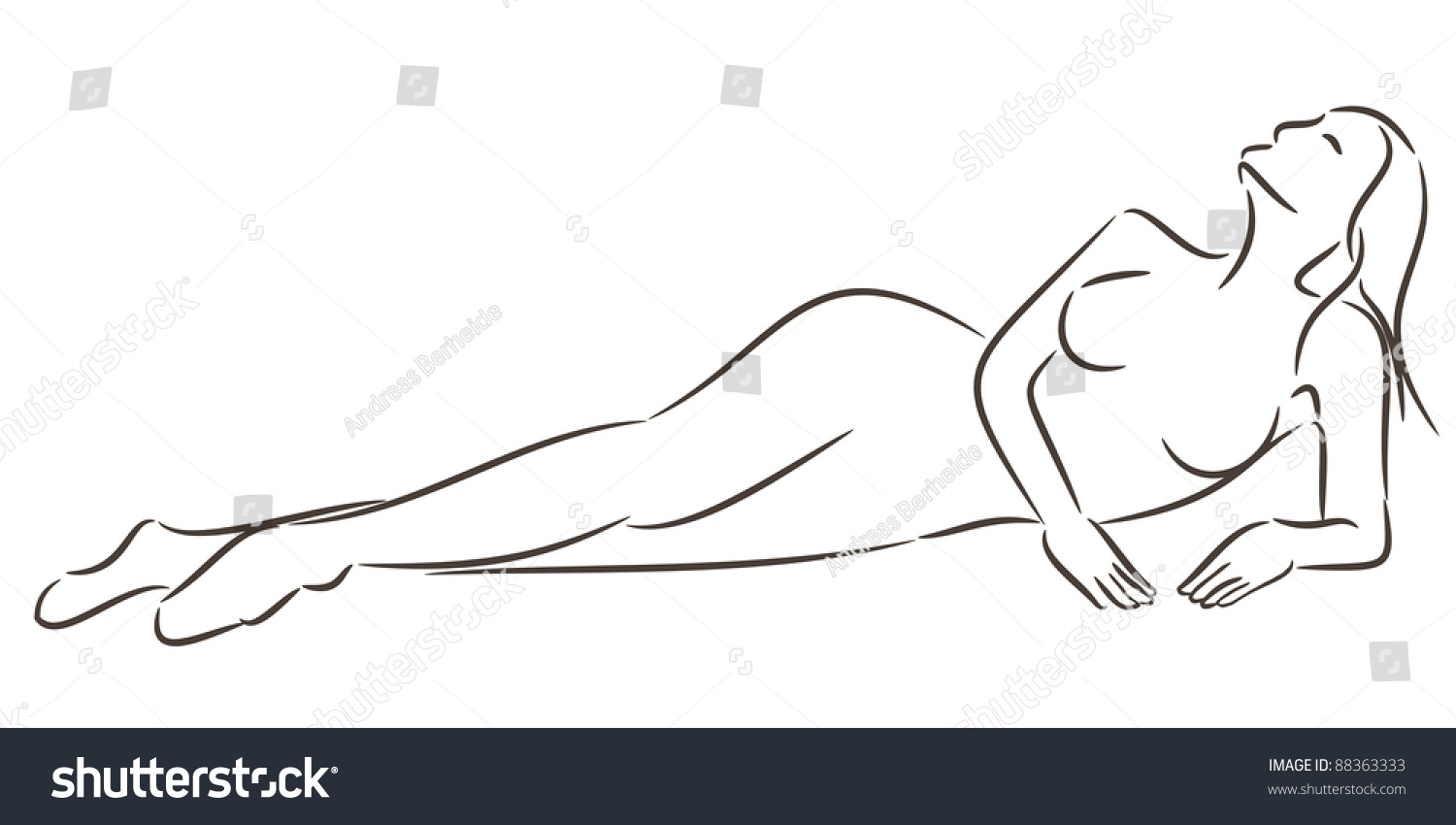Girls naked line drawing erotic clip