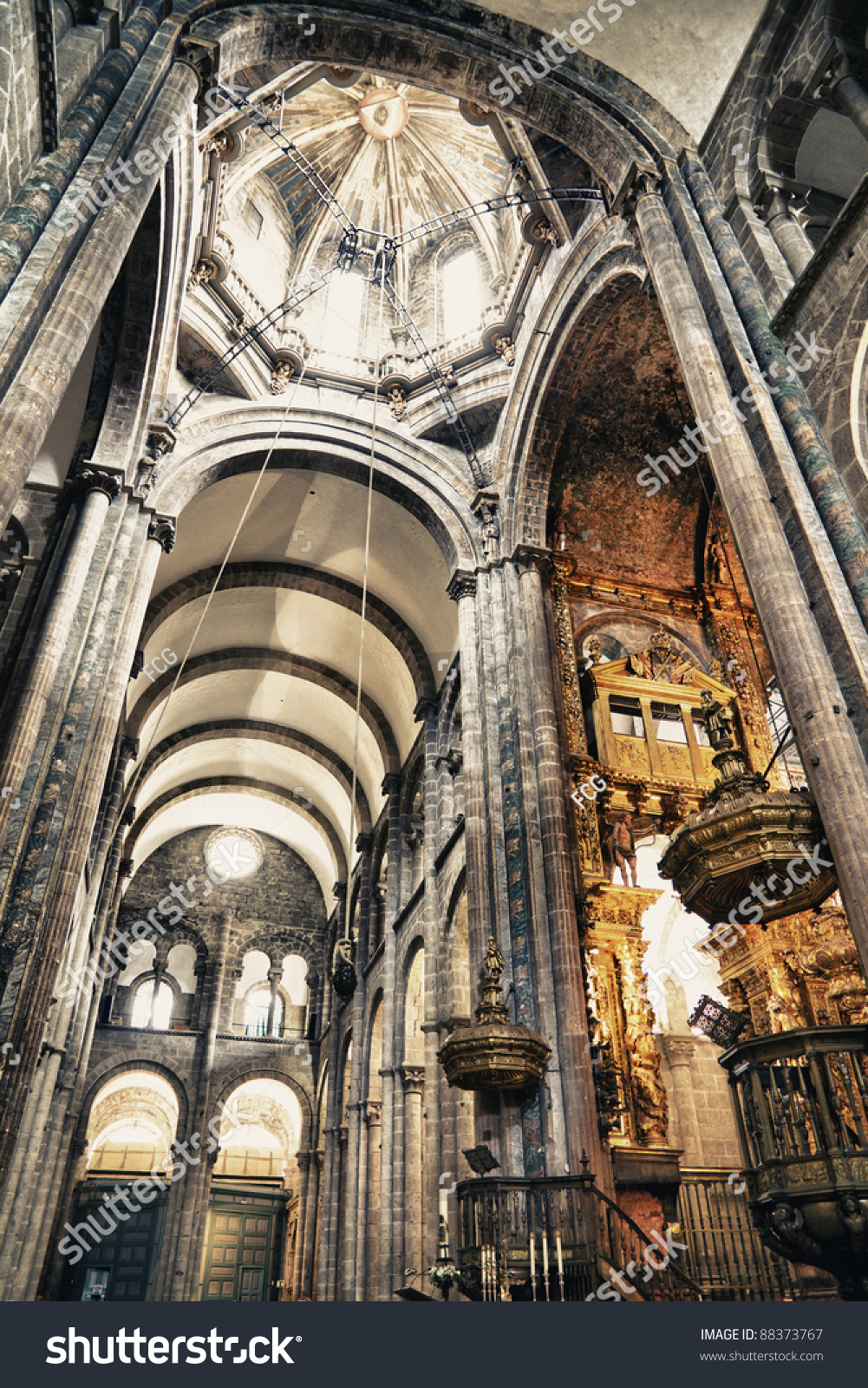 Interior cathedral santiago de compostelathe final stock - Interior santiago de compostela ...