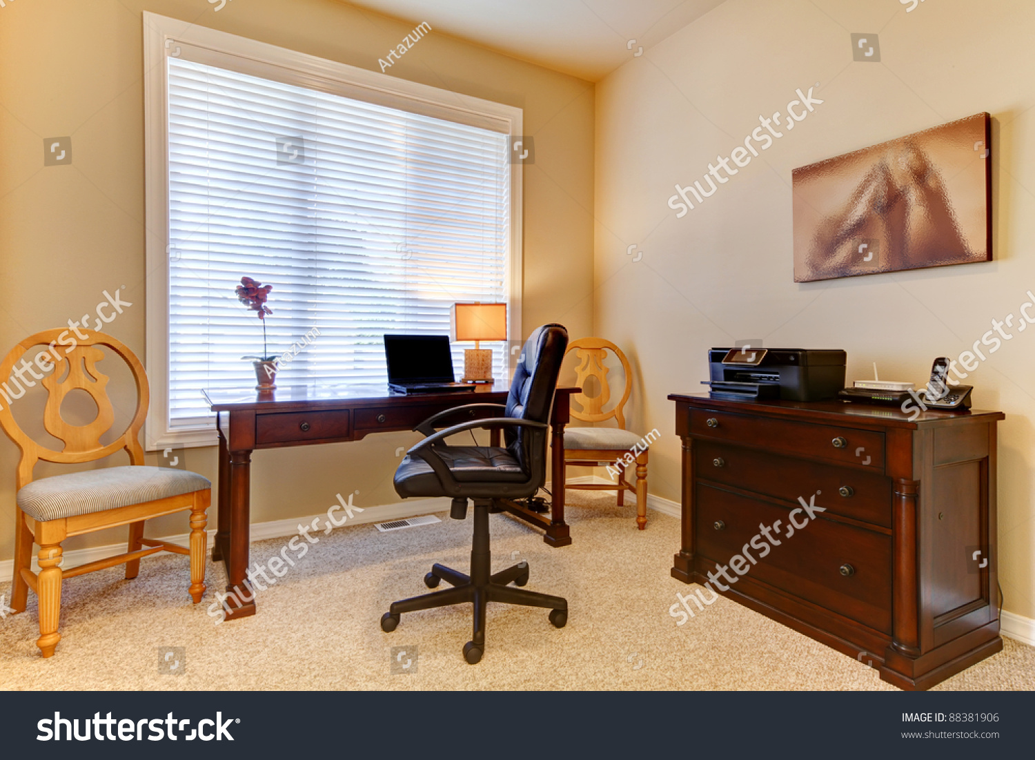 Prime Cozy Simple Home Office Stock Photo 88381906 Shutterstock Largest Home Design Picture Inspirations Pitcheantrous
