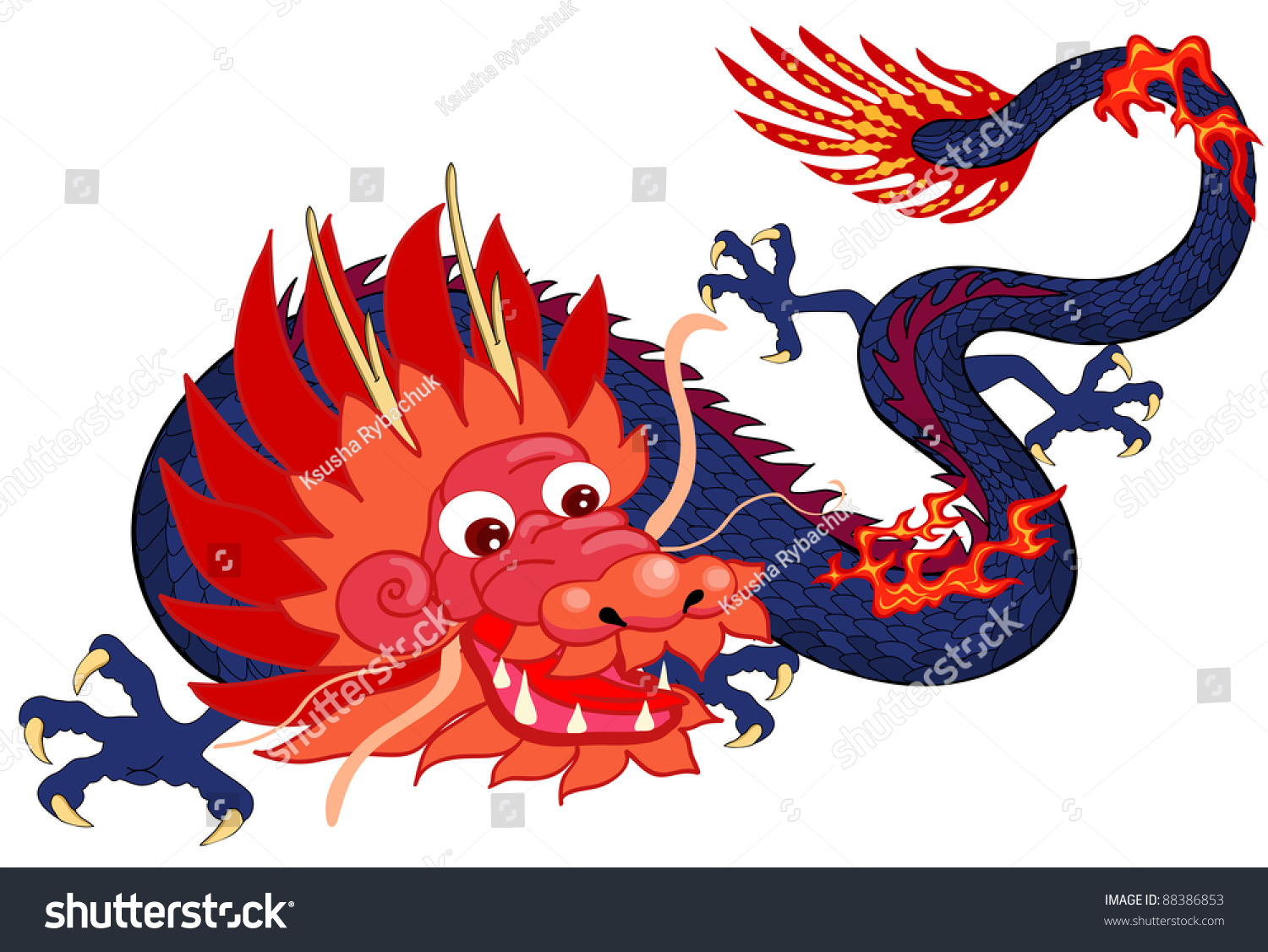 Chinese dragon symbol 2012 year cartoon stock vector 88386853 chinese dragon symbol of the 2012 year cartoon biocorpaavc