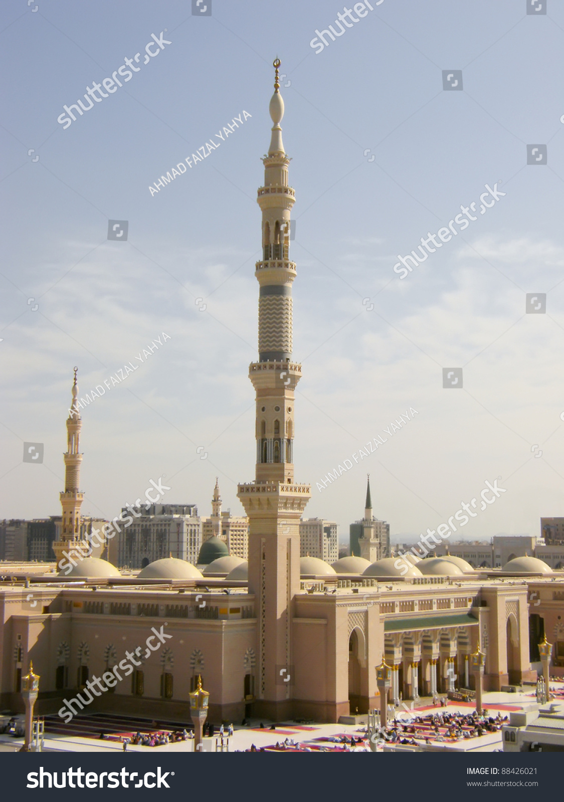 Masjid Al Nabawi Nabawi Mosque Mosque Stock Photo 88426021 ...