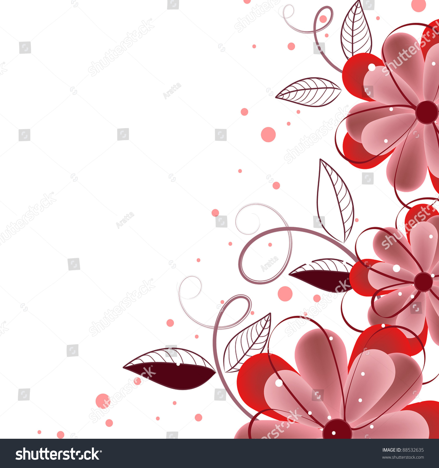 romantic flower invitation  background  greeting card stock vector illustration 88532635