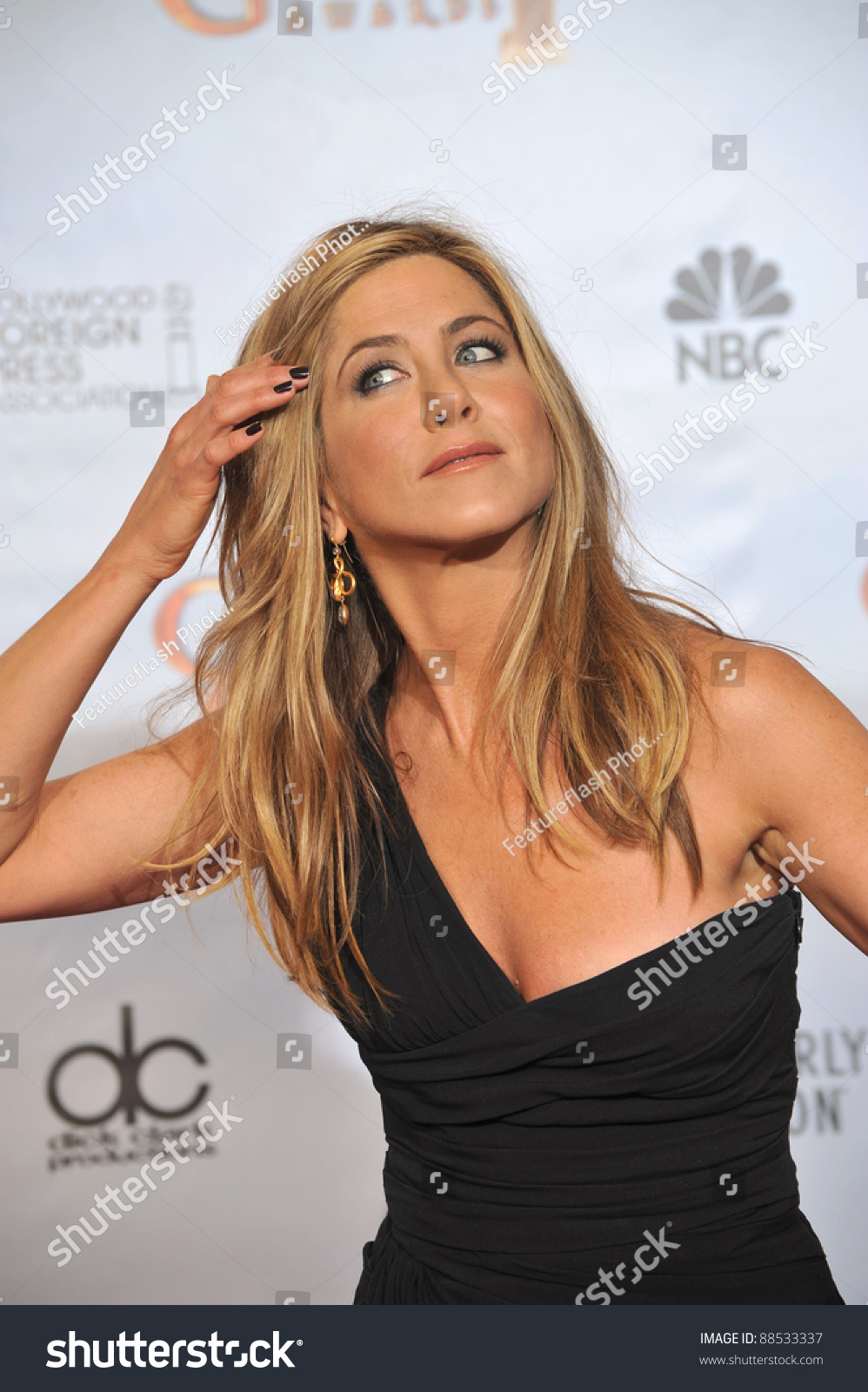 Jennifer Aniston 67th Golden Globe Awards Stock Photo
