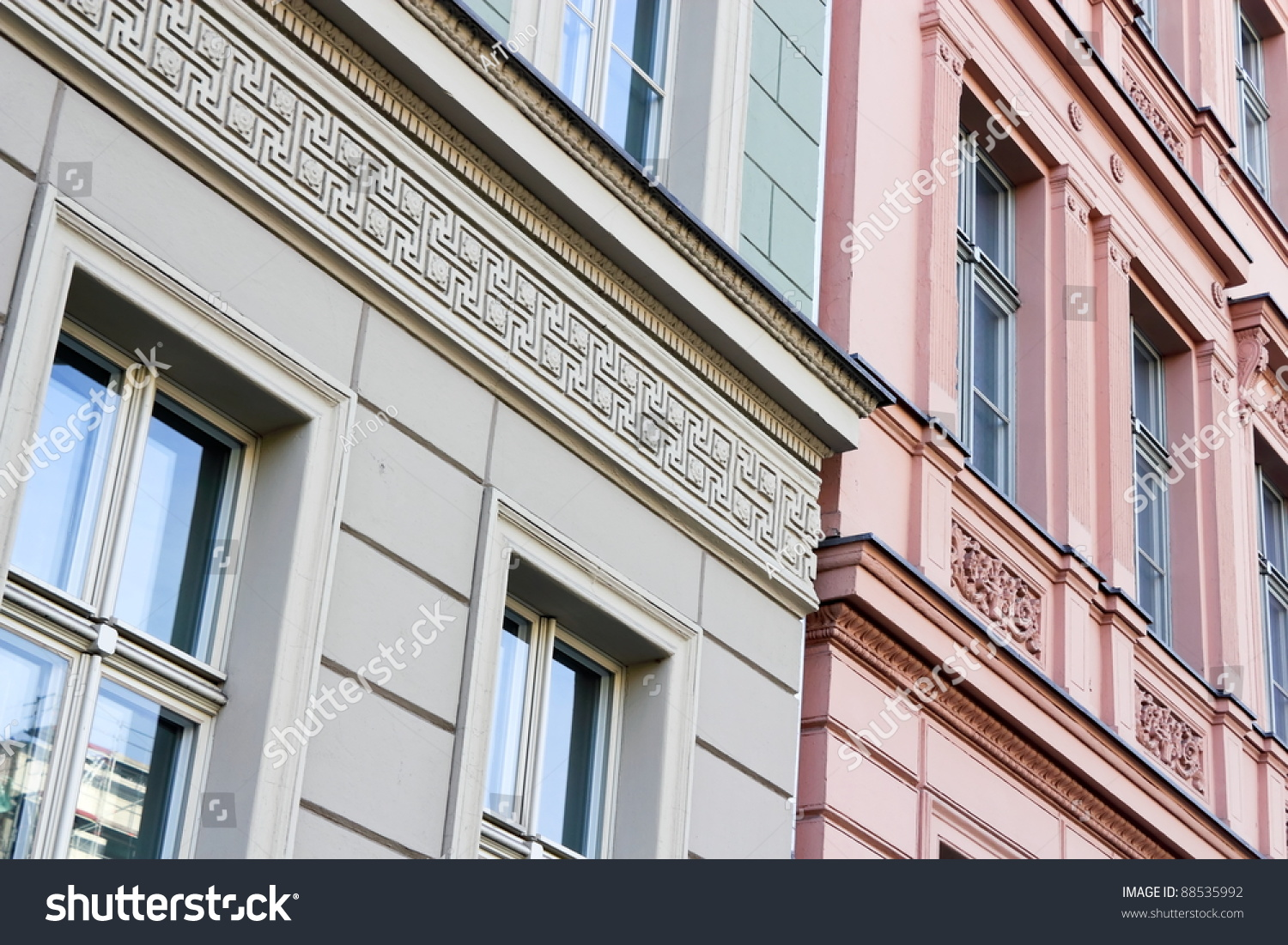 Stucco facades stock photo 88535992 shutterstock for Stucco facade